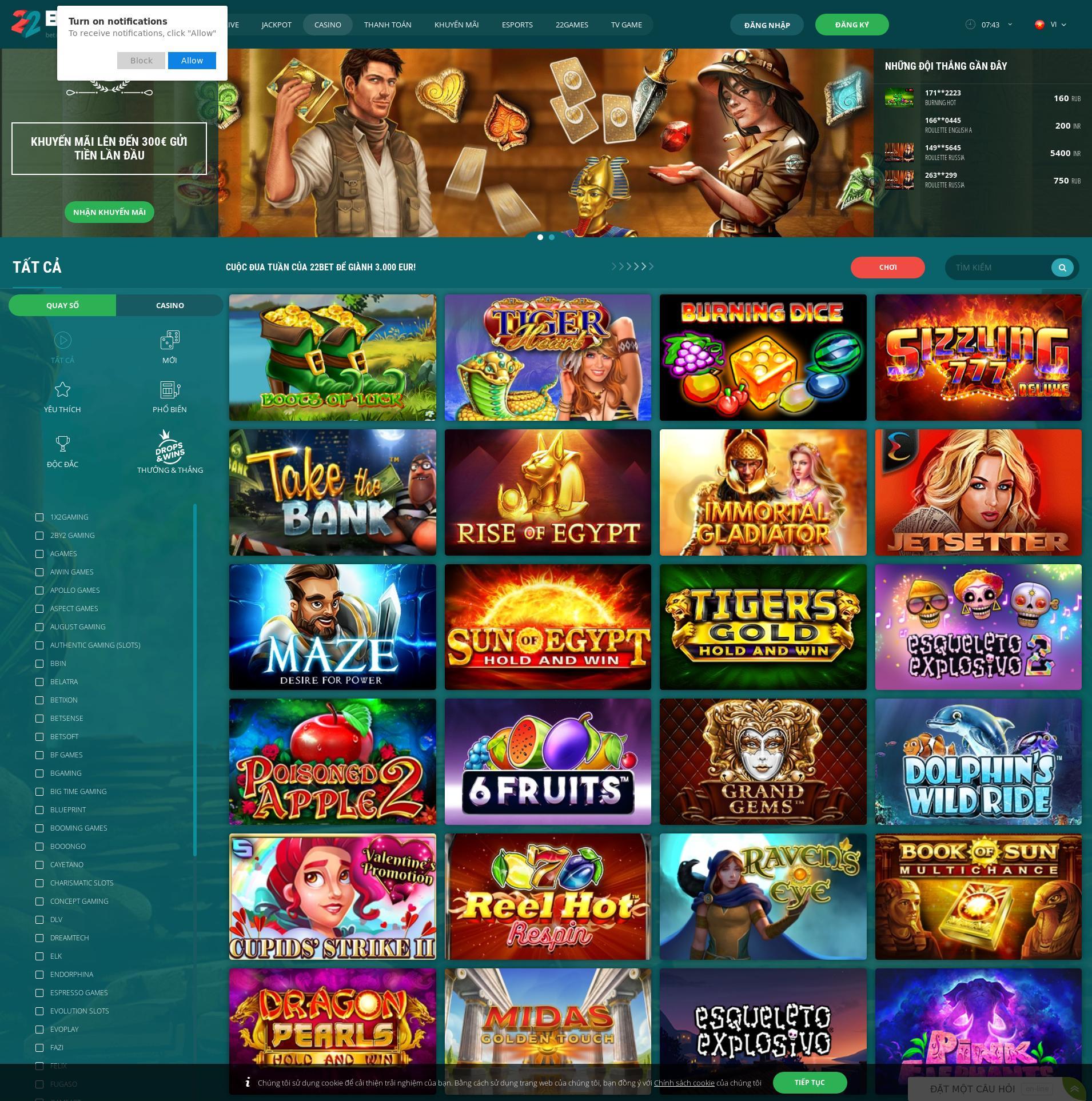 Màn hình Casino Lobby 2020-02-15 cho Việt Nam