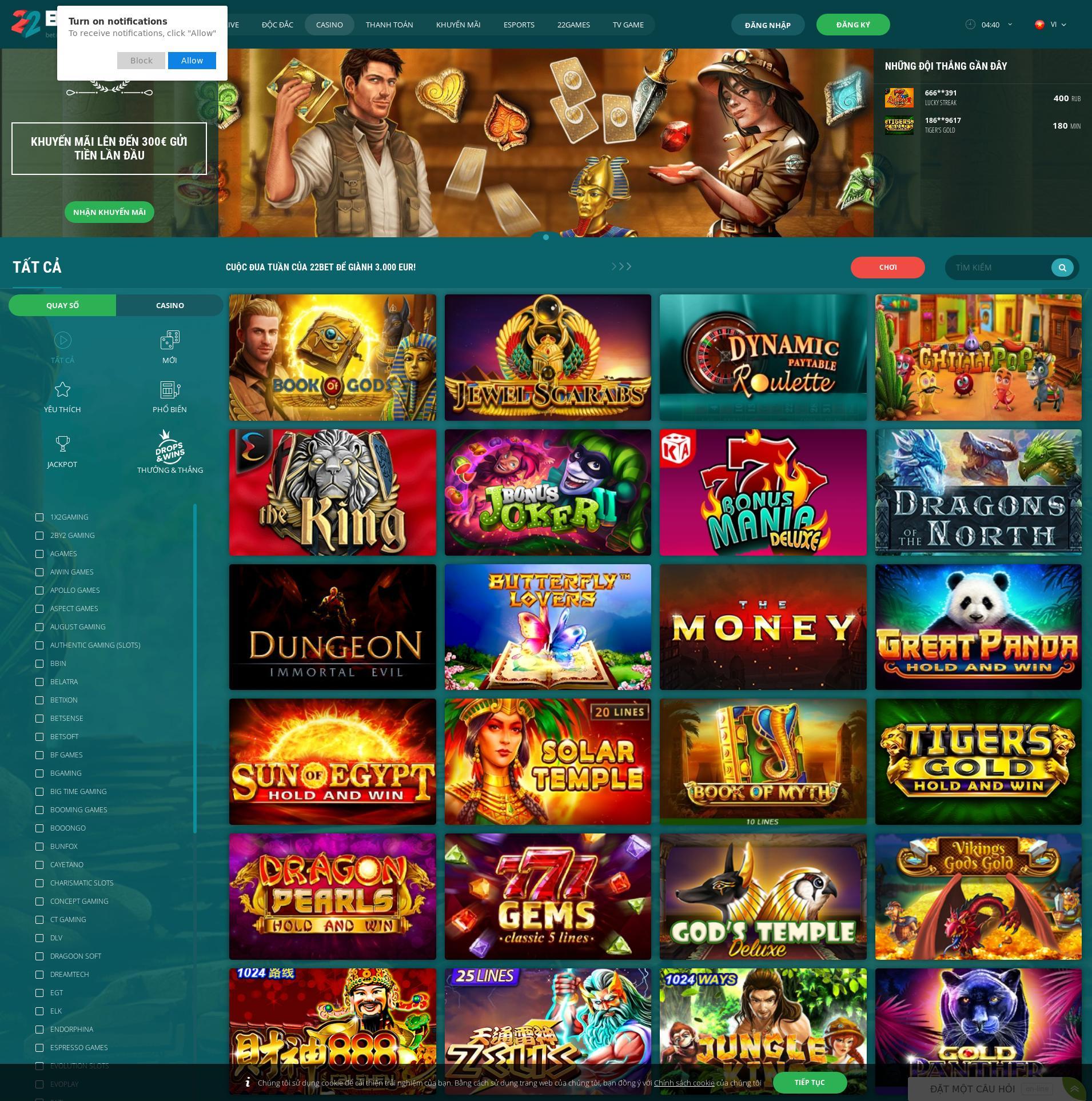 Màn hình Casino Lobby 2020-04-08 cho Việt Nam