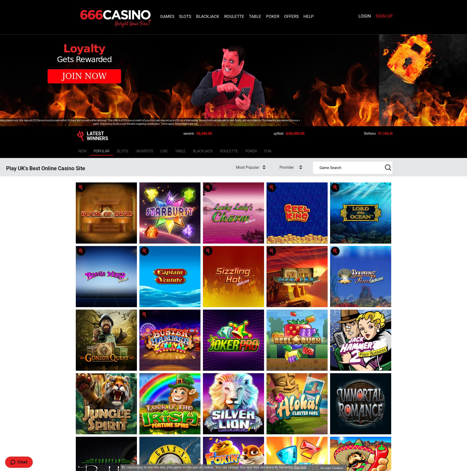 Casino screen Lobby 2020-06-03 for United Kingdom
