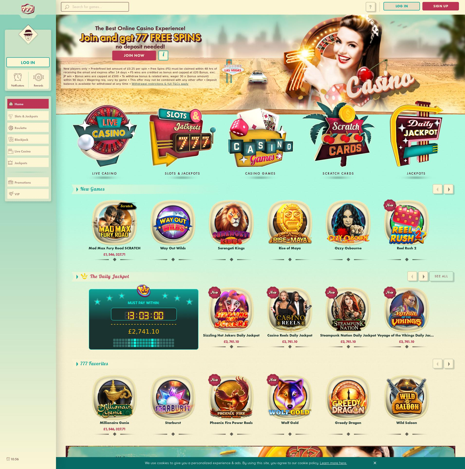 Casino screen Lobby 2020-02-18 for United Kingdom