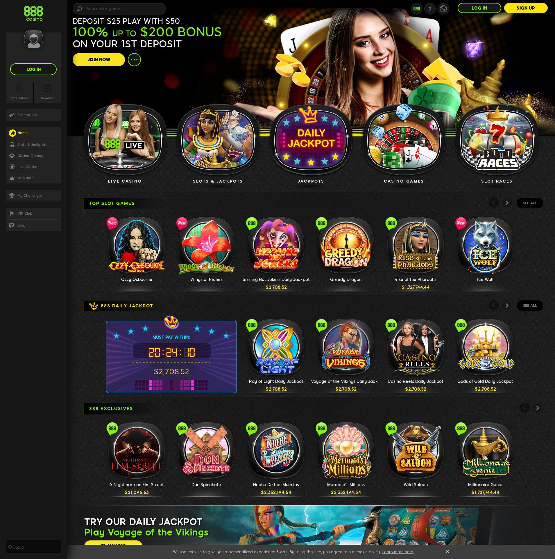 Màn hình Casino Lobby 2020-01-23 cho Việt Nam
