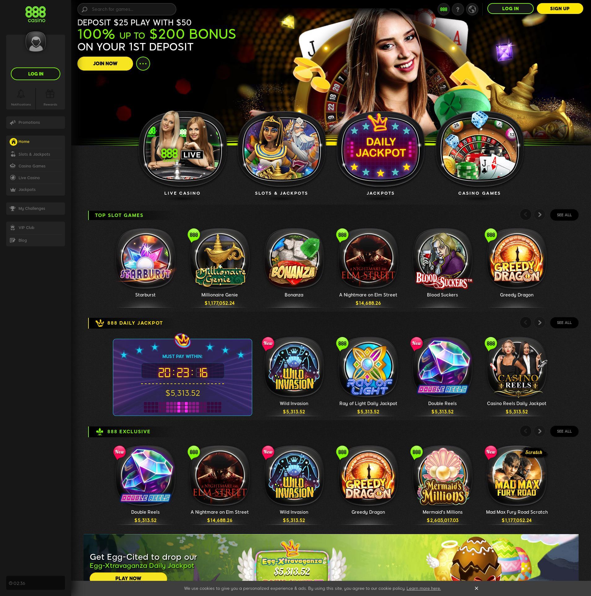 Màn hình Casino Lobby 2020-04-09 cho Việt Nam