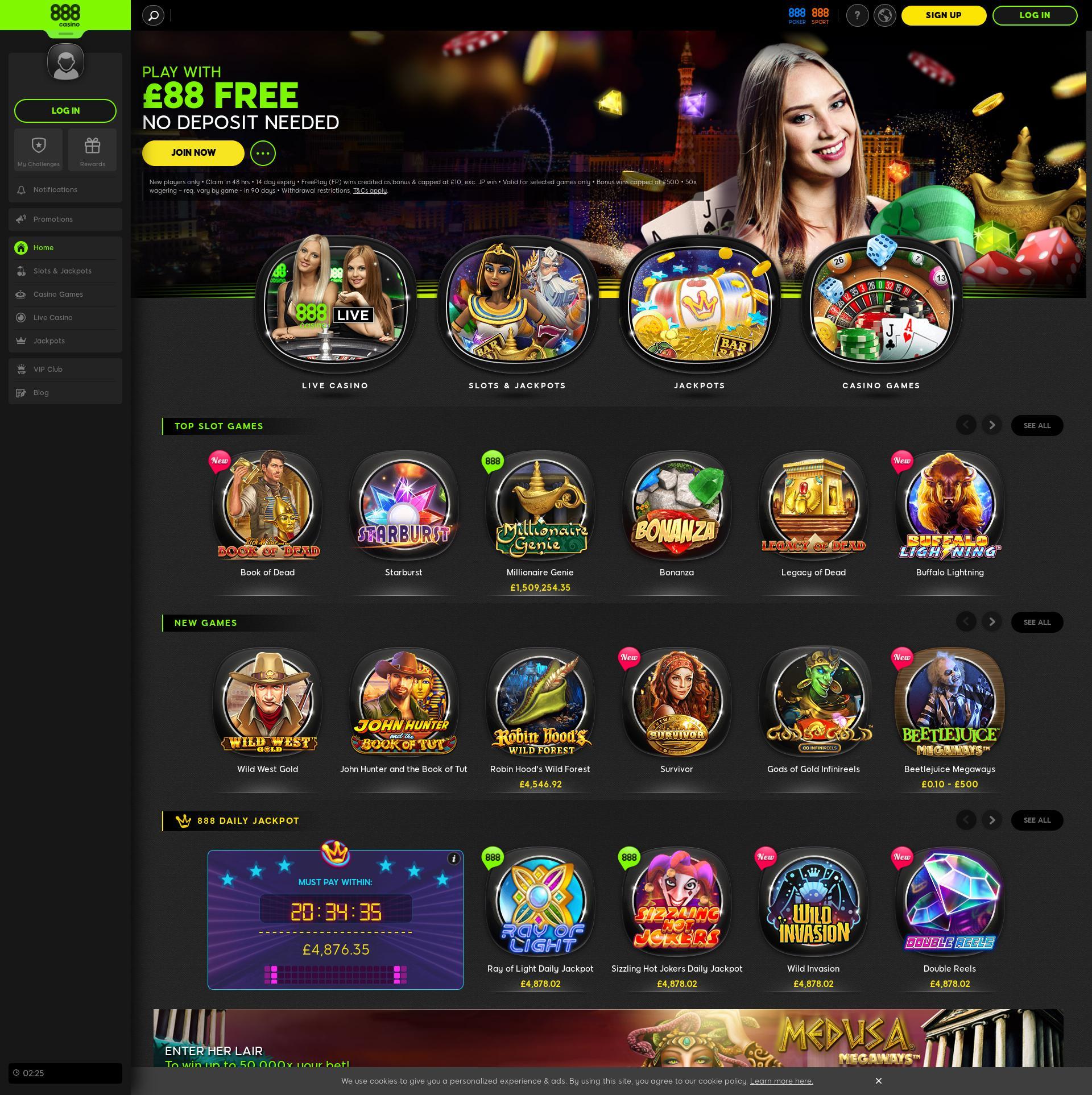 Pantalla de casino Lobby 2020-05-28 para Reino Unido