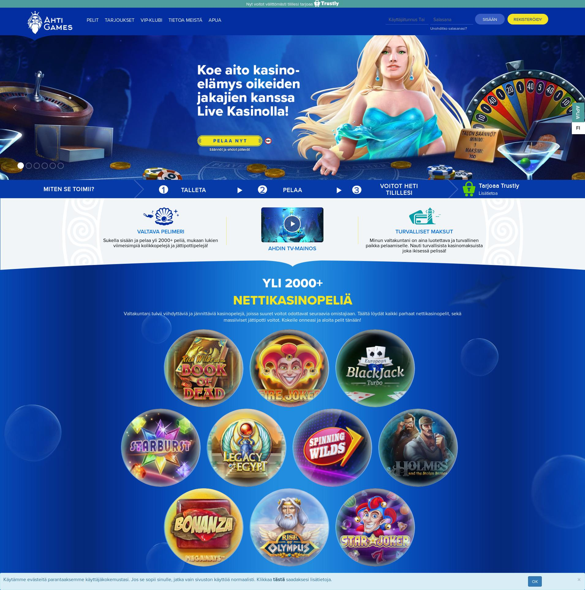 Casino screen Lobby 2019-11-20 for Finland