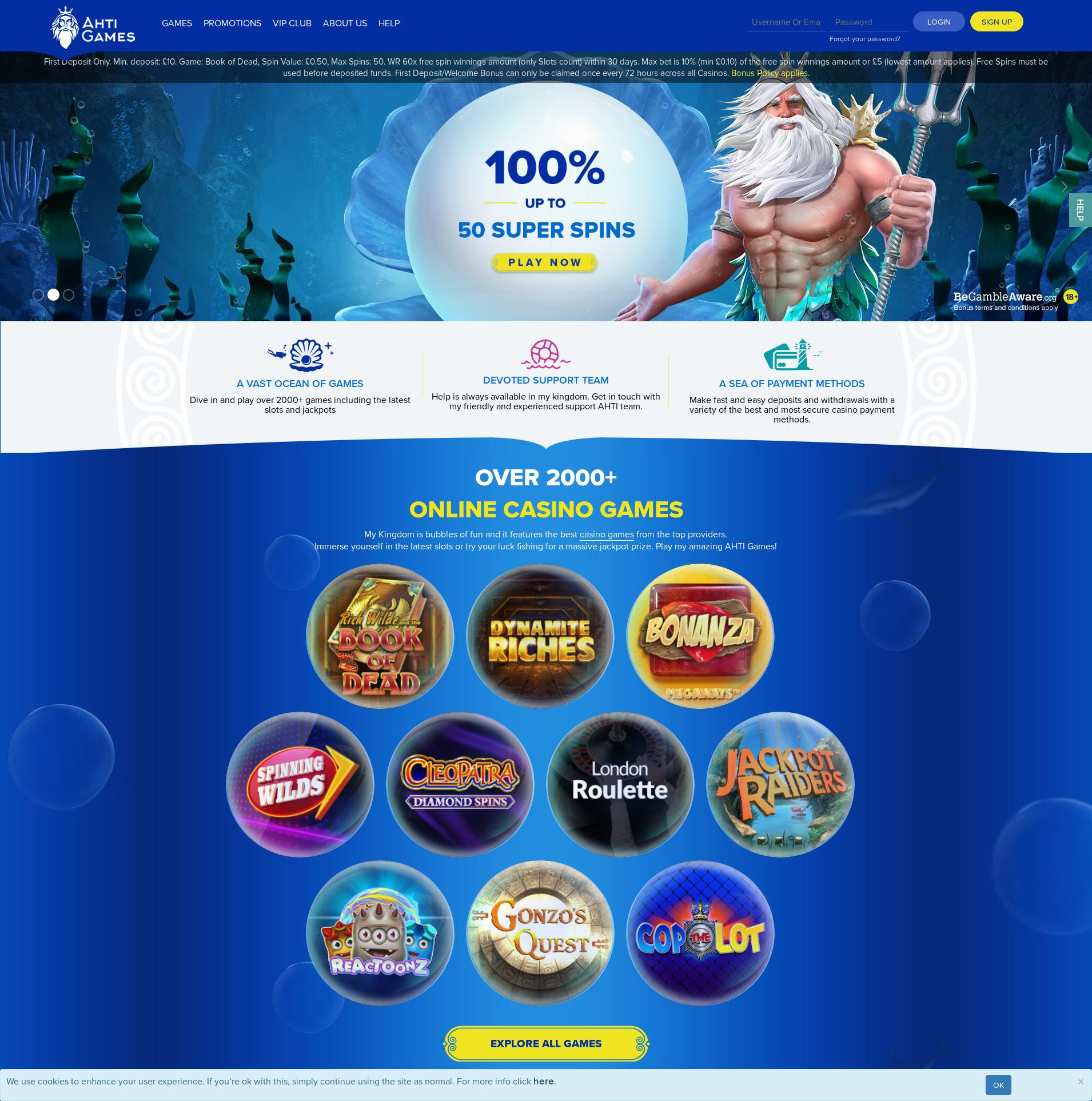 Casino screen Lobby 2020-01-19 for United Kingdom