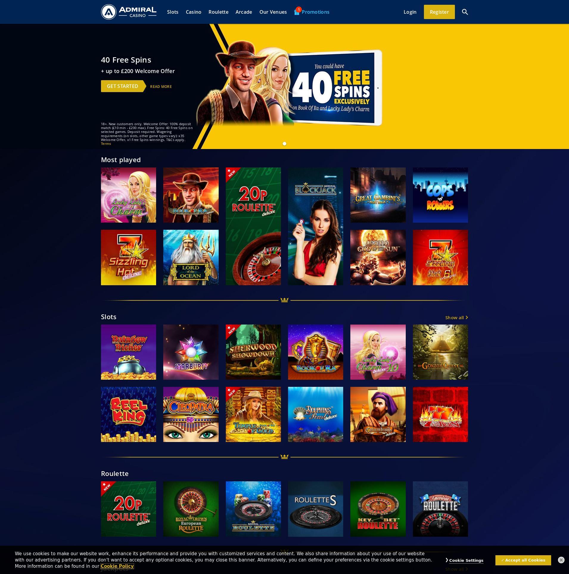 Admiral Casino Online
