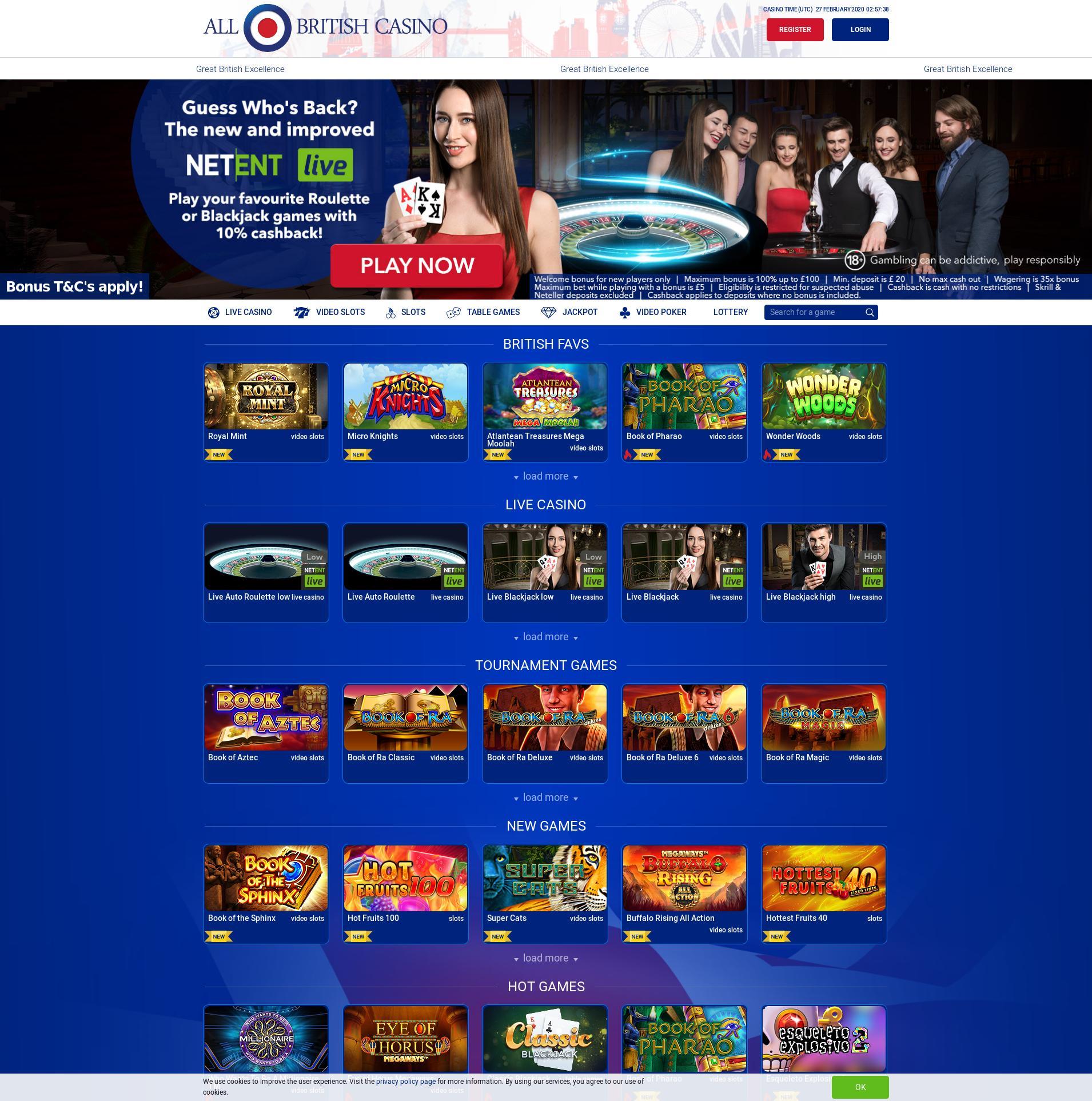 카지노 화면 Lobby 2020-02-27 ...에 대한 영국