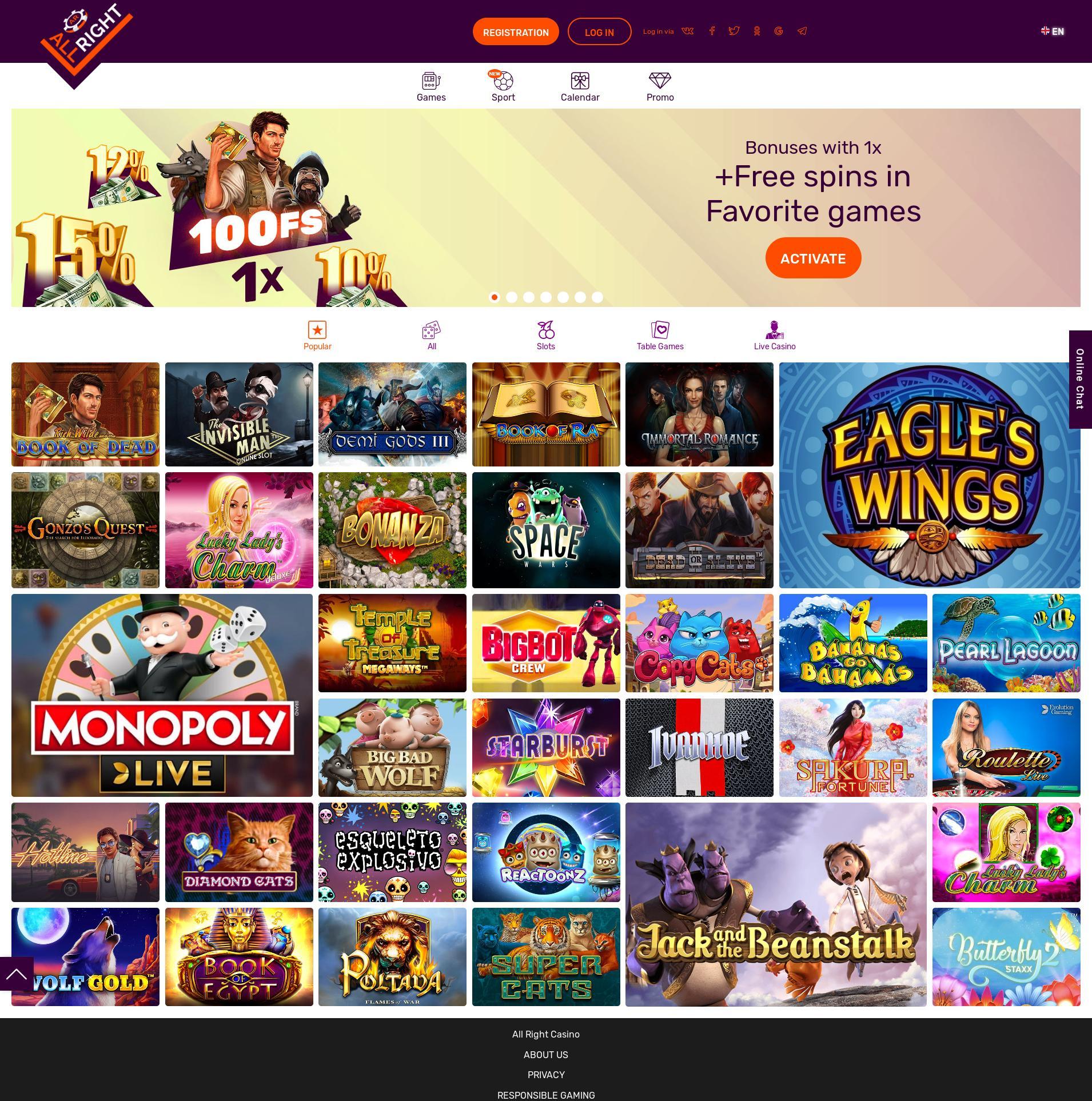 Casino Bildschirm Lobby 2019-11-13 zum Deutschland