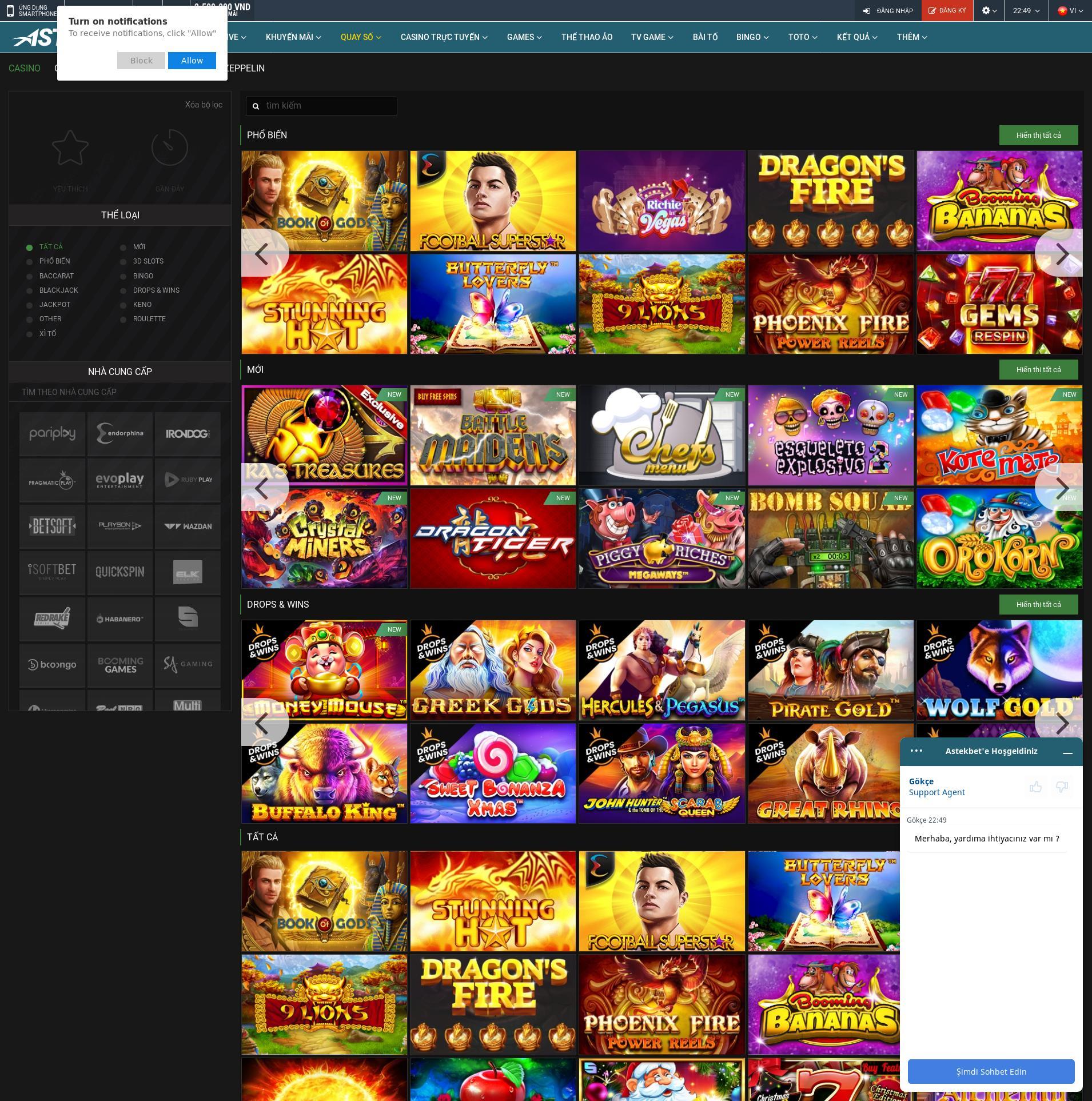Màn hình Casino Lobby 2020-01-25 cho Việt Nam