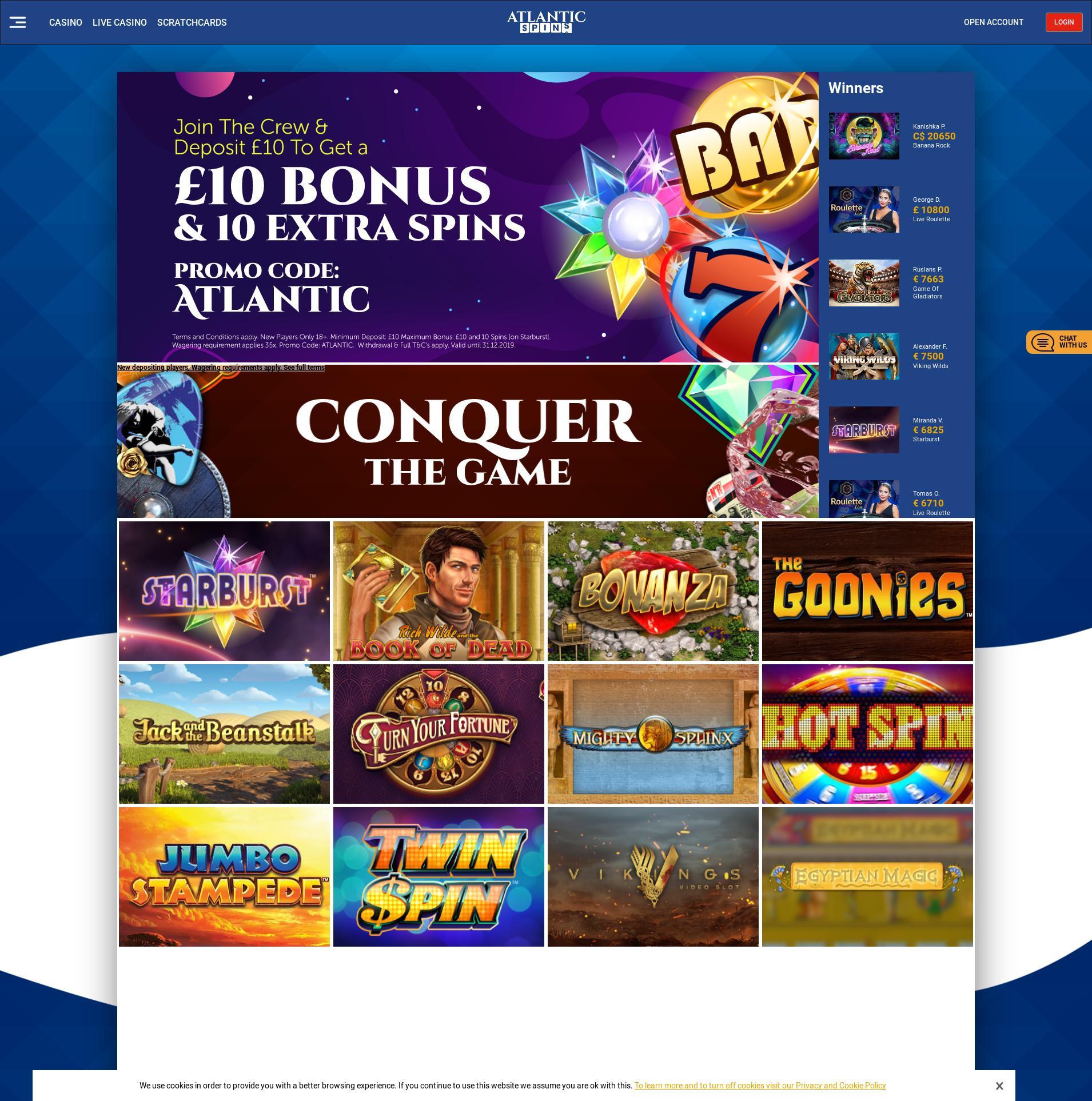Casino screen Lobby 2019-06-24 for United Kingdom