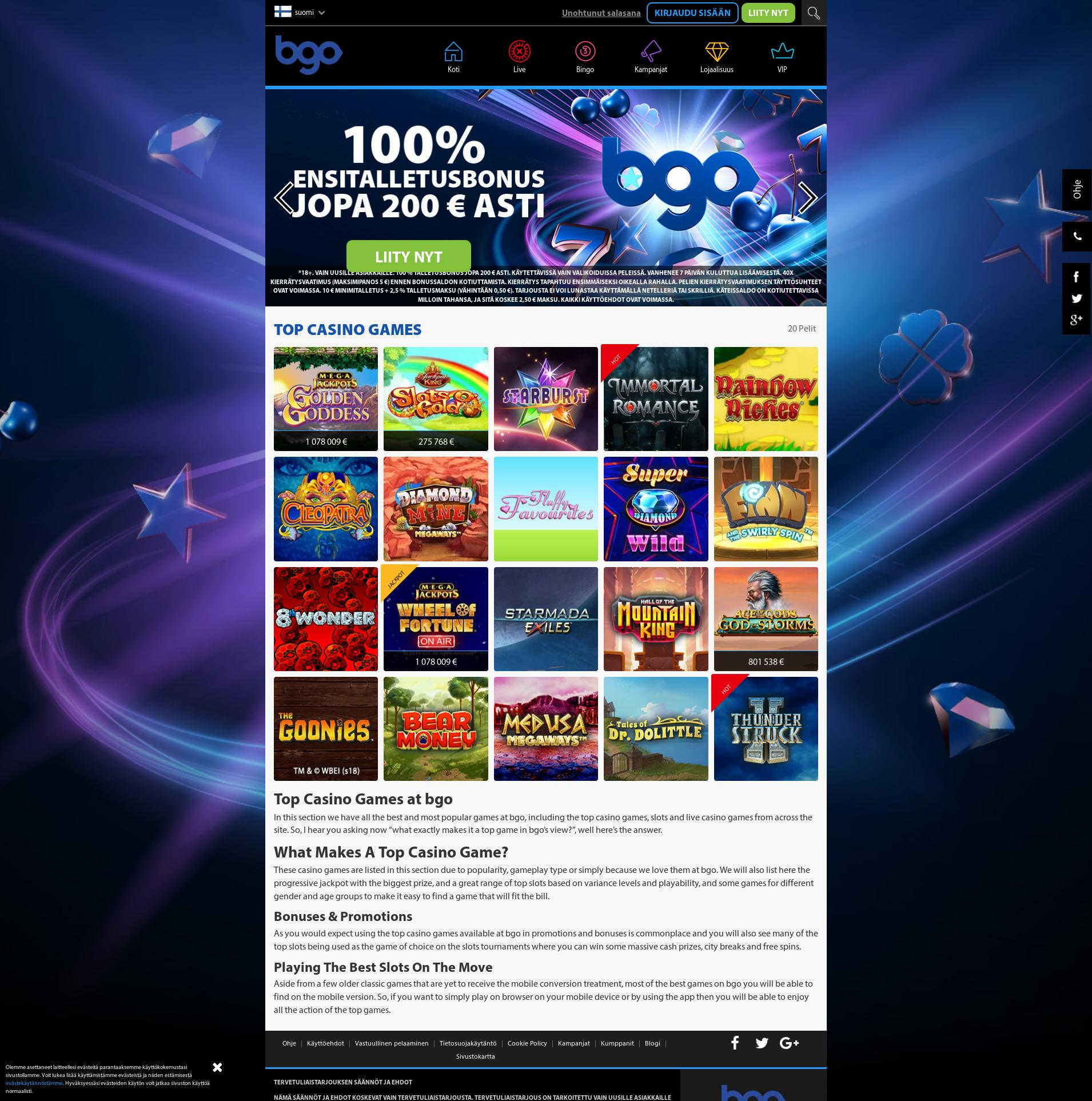 Casino-näyttö Lobby 2019-08-17 varten Suomi