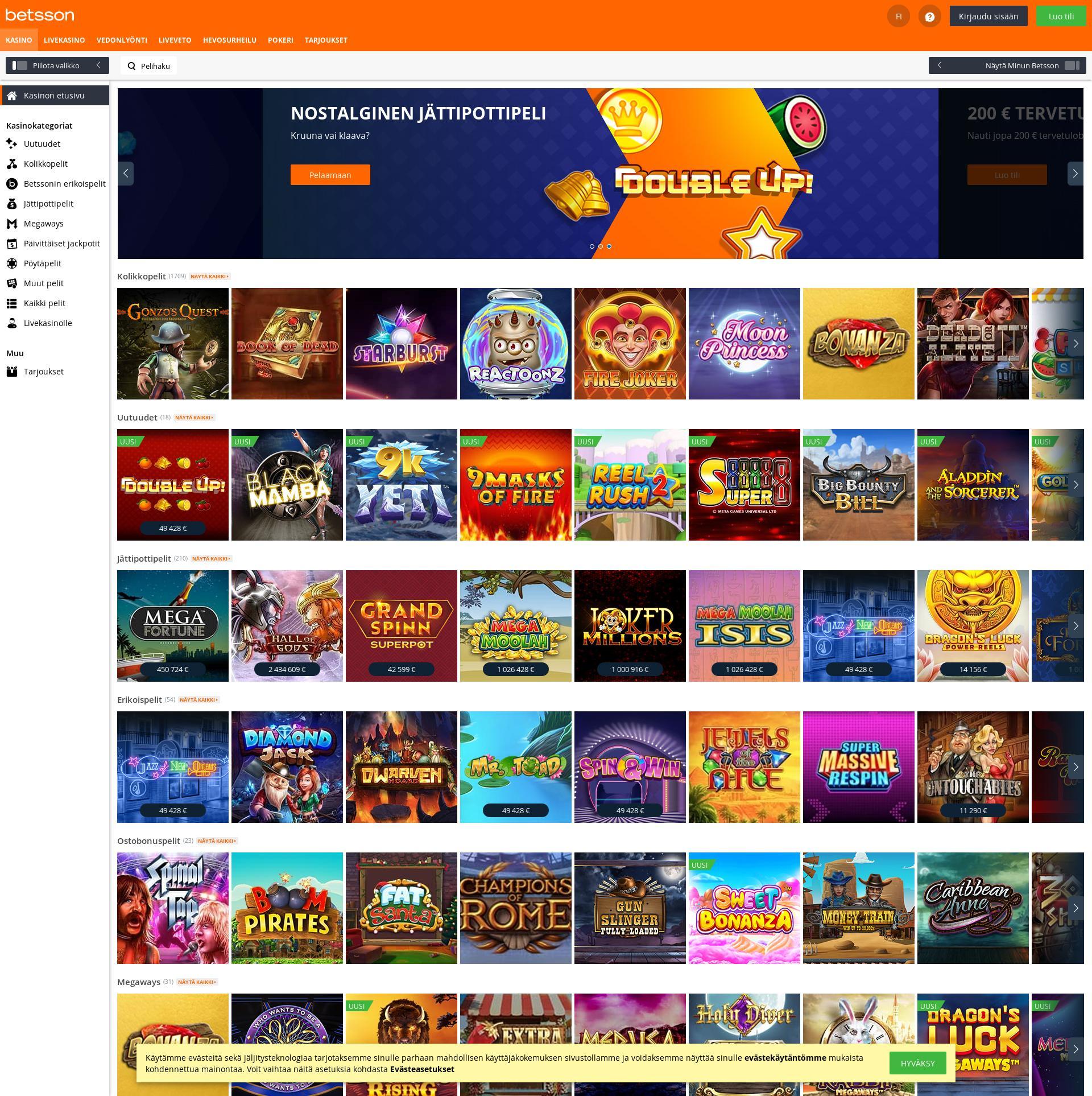 Casino skärm Lobby 2019-11-19 för finland