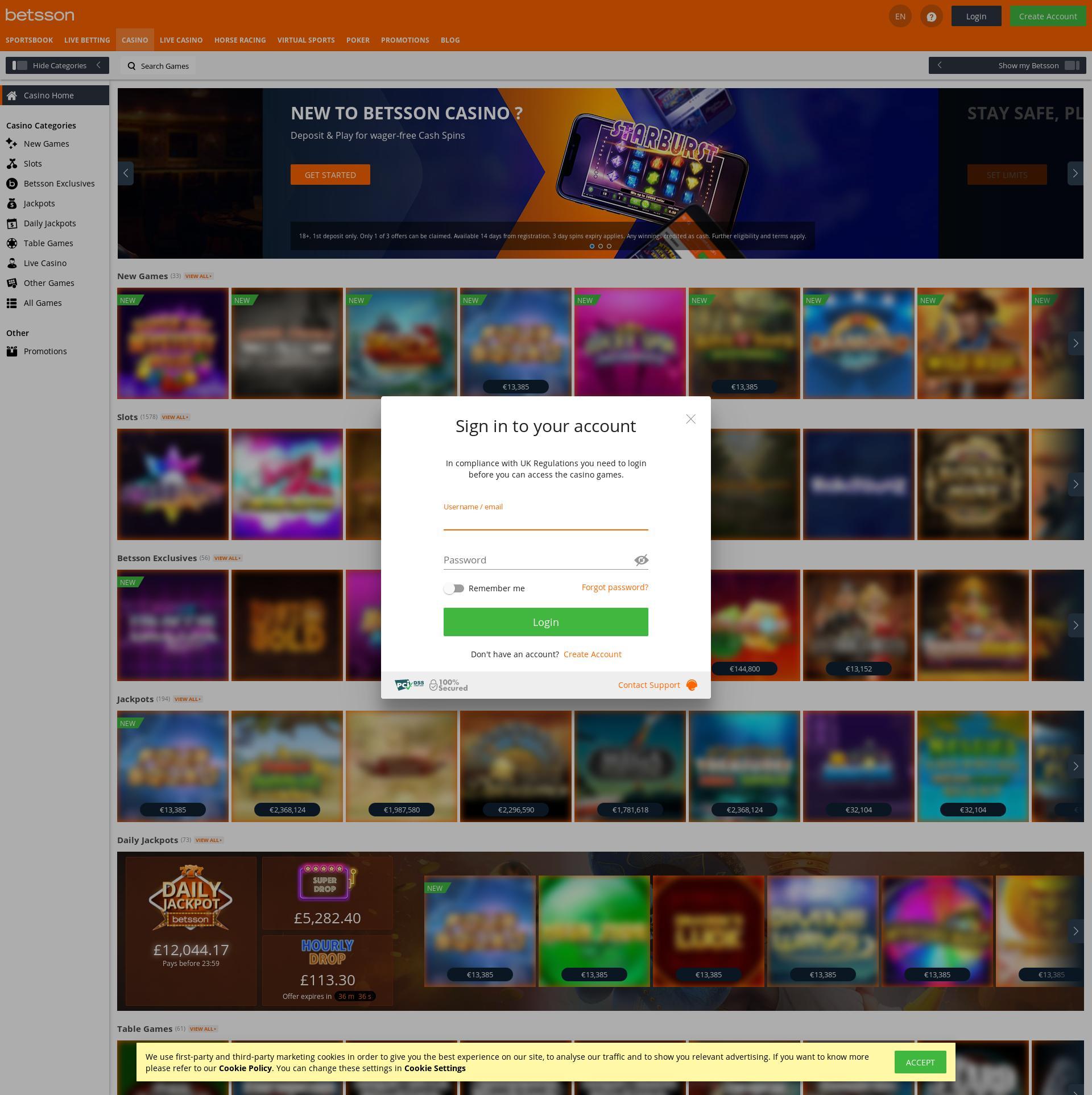Casino skærm Lobby 2020-05-30 til Det Forenede Kongerige