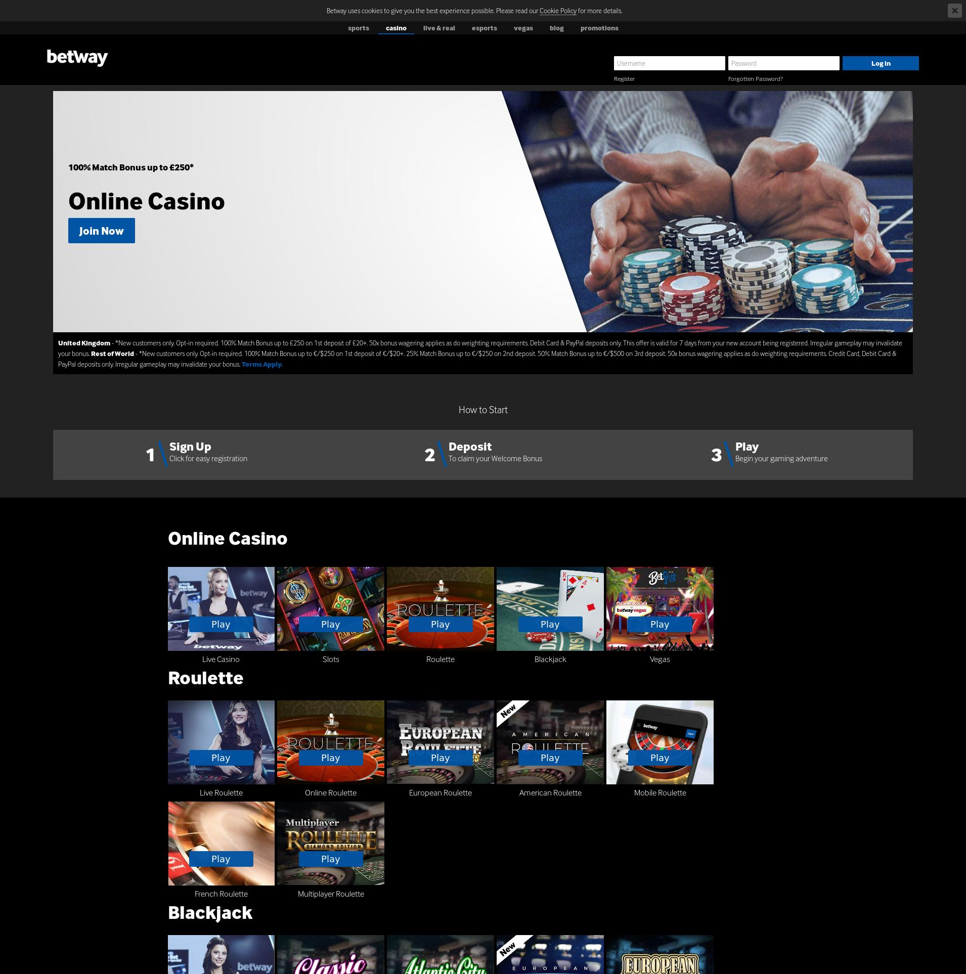 Betway Group Casinos