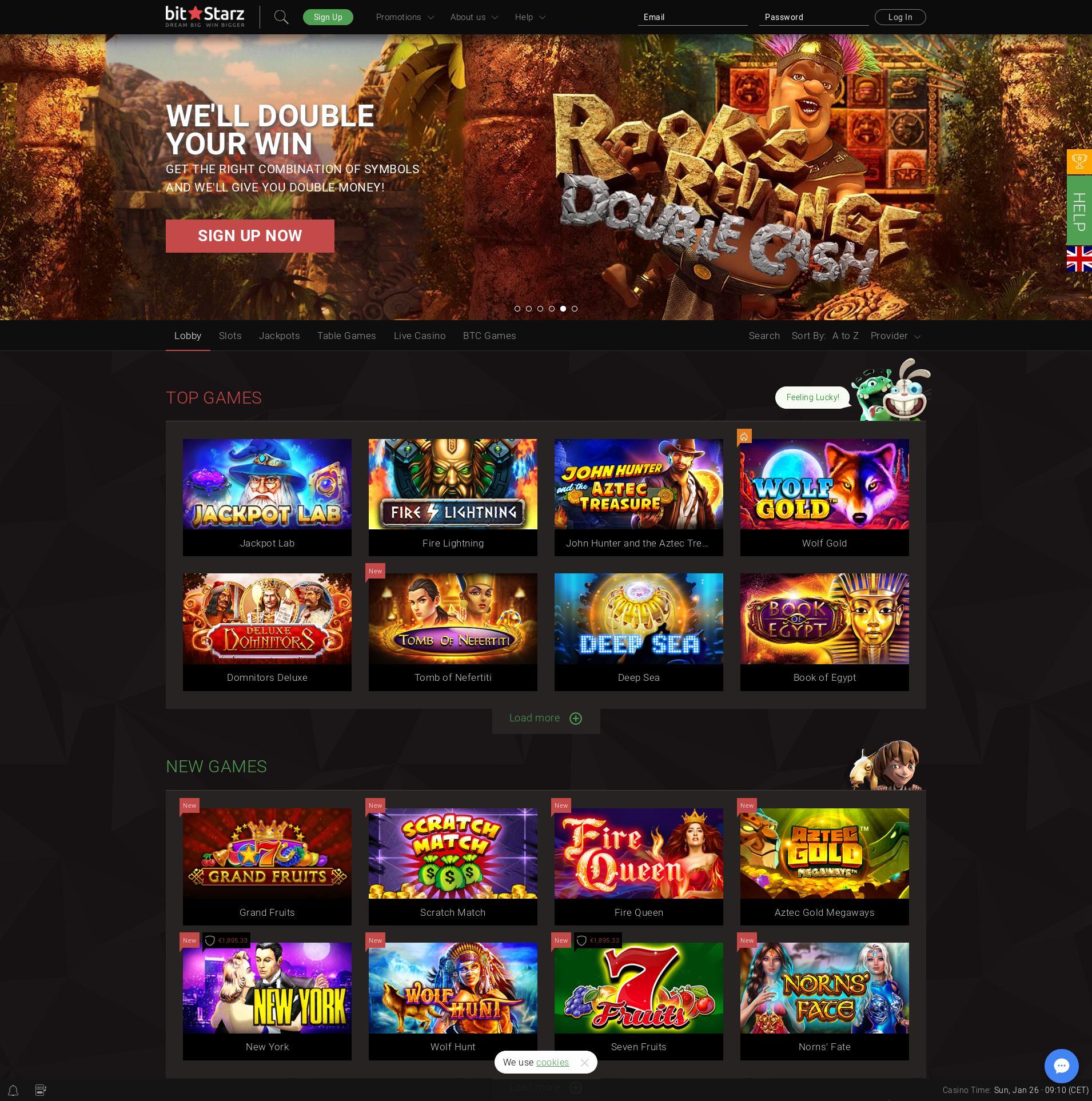 赌场的屏幕 Lobby 2020-01-26 对于 印度