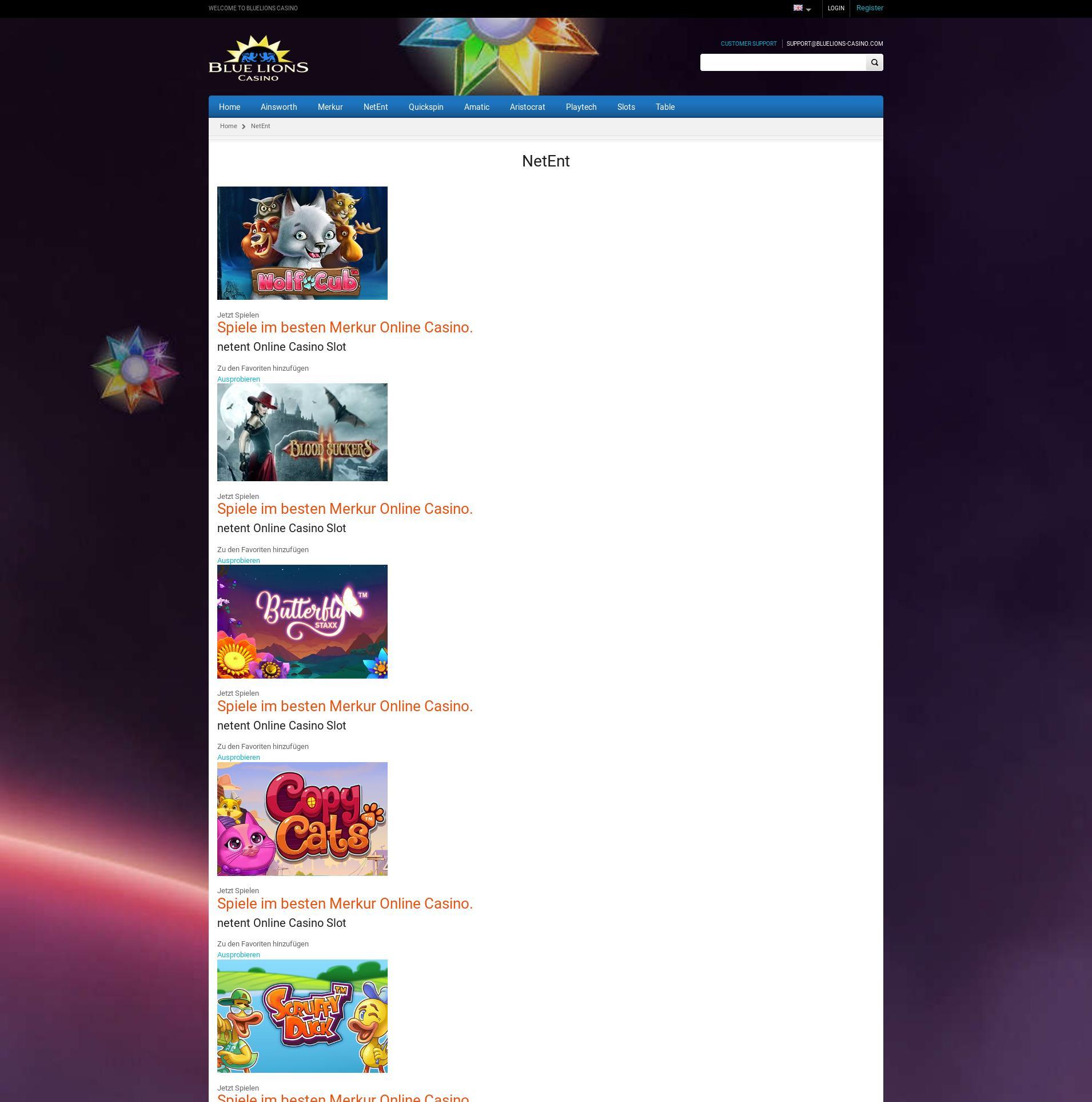 Casino scherm Lobby 2019-08-20 voor Nederland
