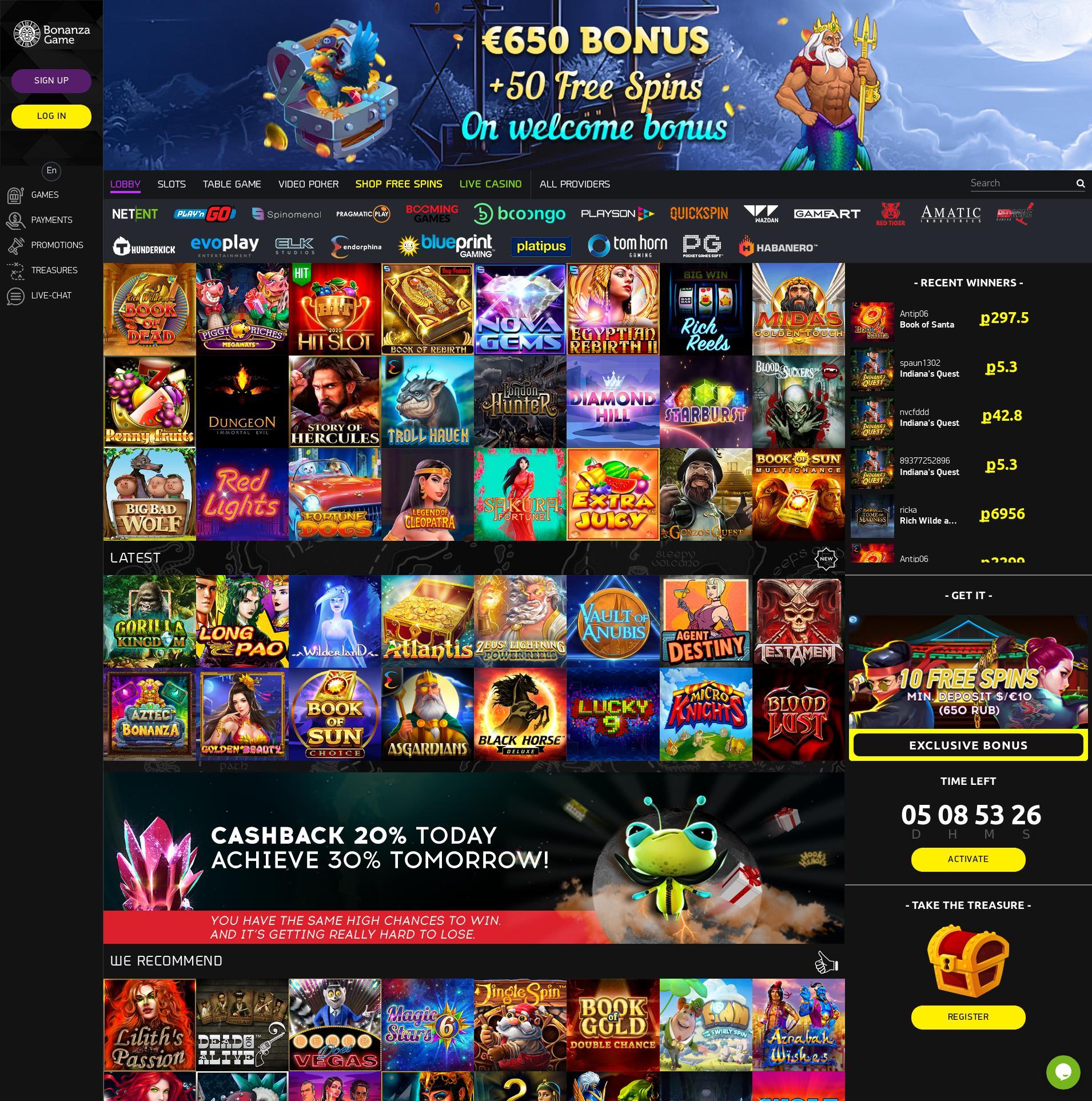 Casino skärm Lobby 2020-05-30 för finland