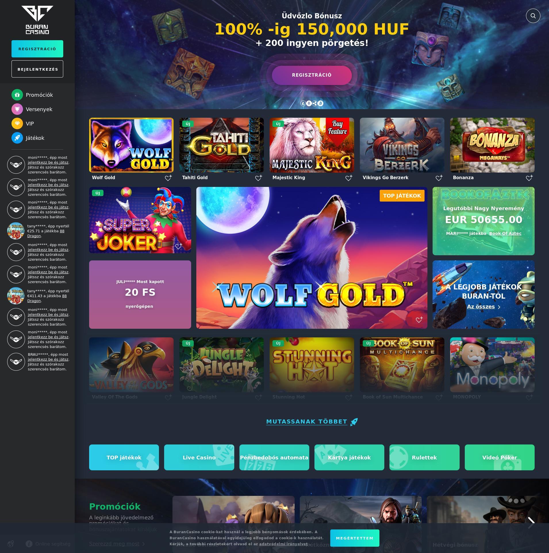 Casino screen Lobby 2019-09-18 for Hungary