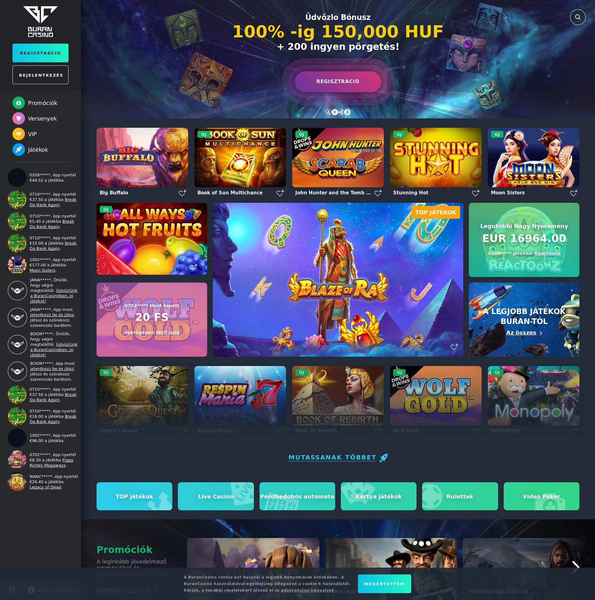Casino skärm Lobby 2020-06-04 för Ungern