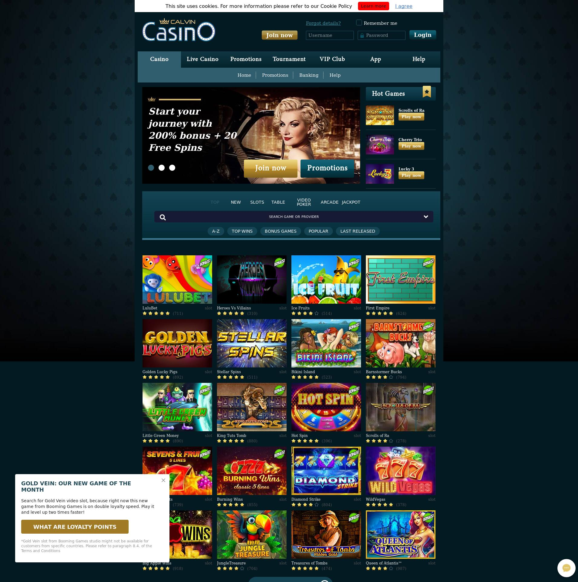 Màn hình Casino Lobby 2019-06-15 cho Việt Nam
