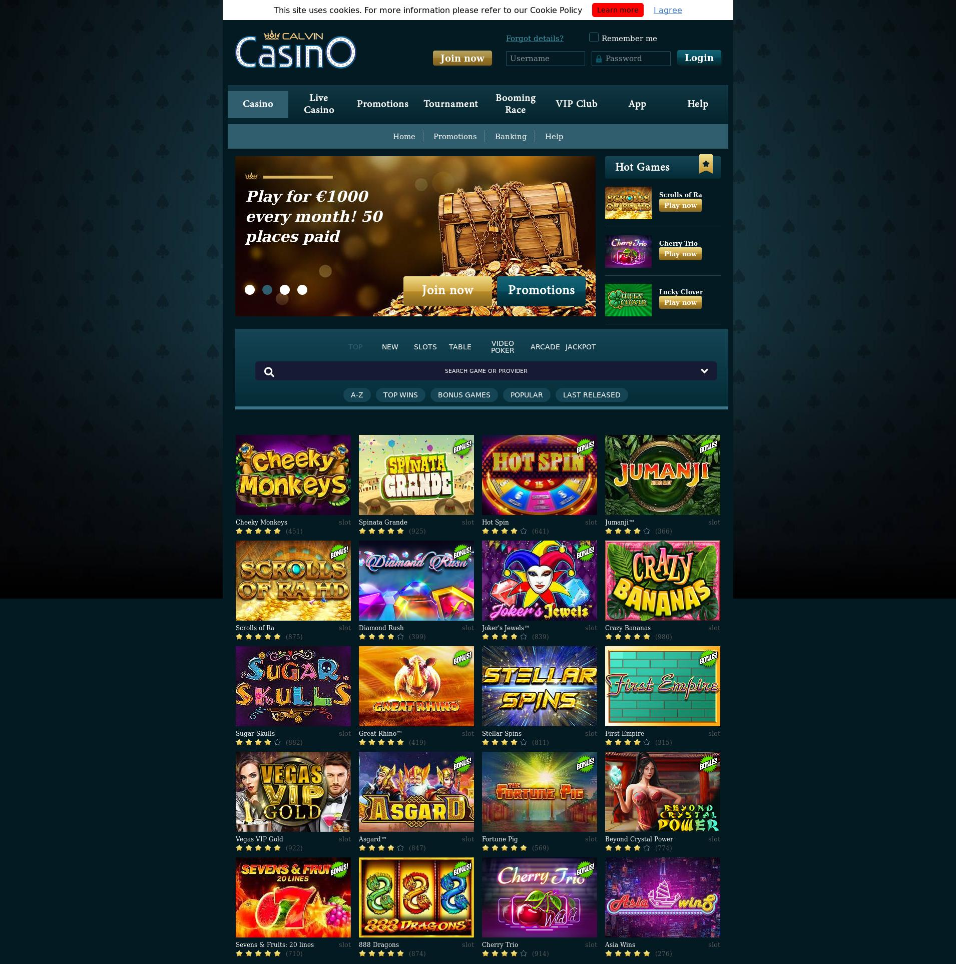 Casino screen Lobby 2019-07-21 for Norway