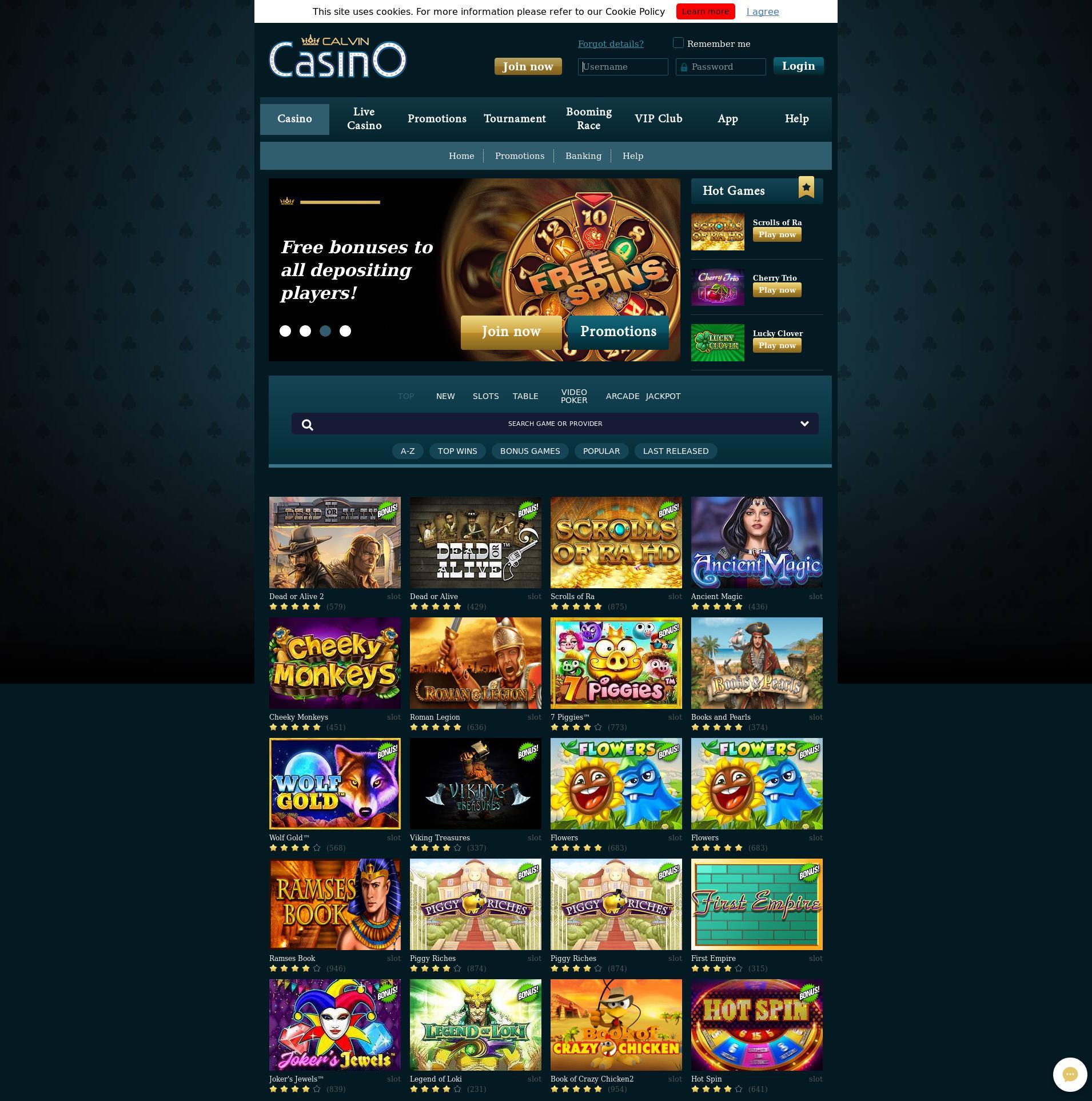 Casino skærm Lobby 2019-07-21 til Danmark