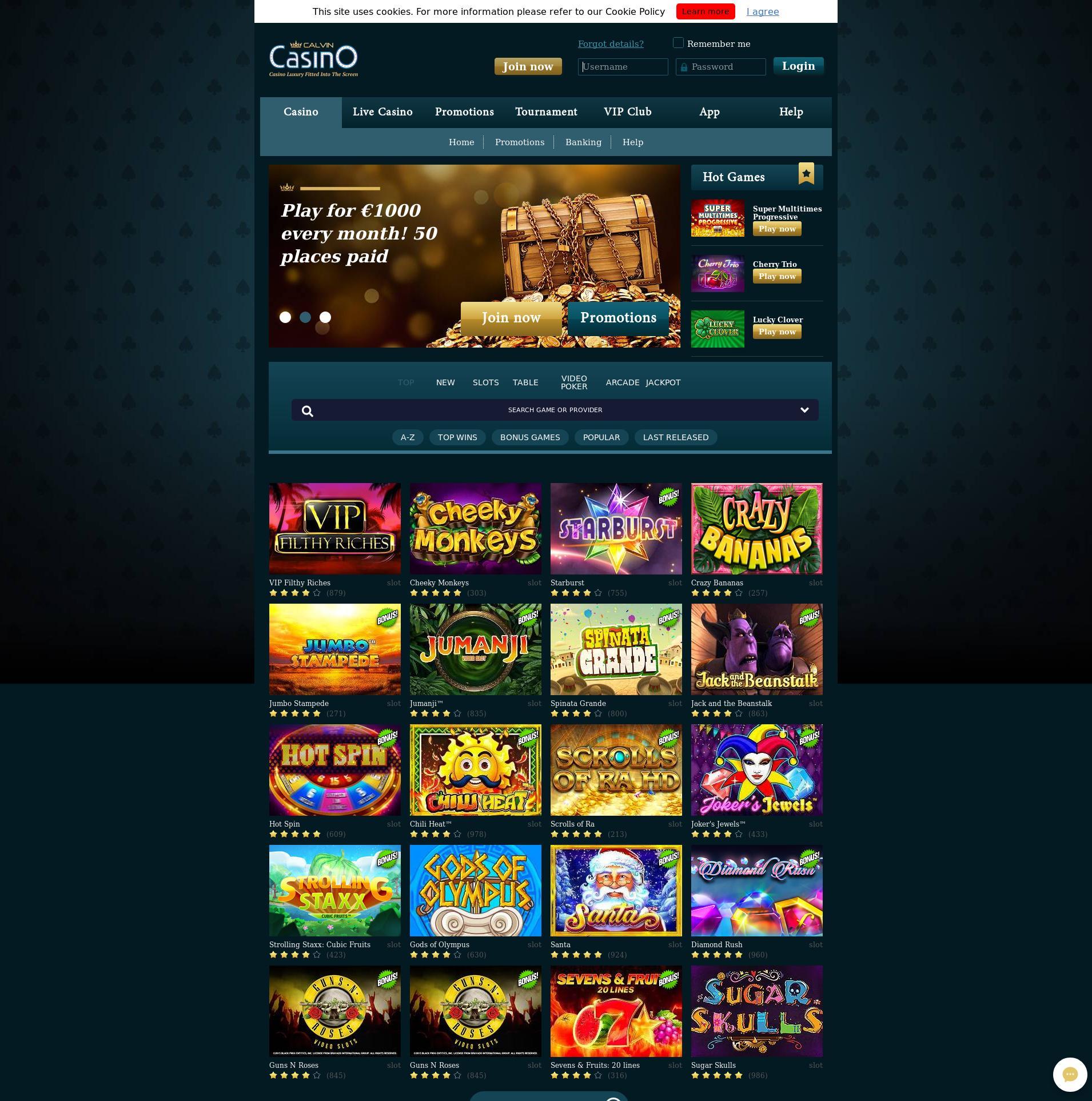 Màn hình Casino Lobby 2019-08-24 cho Việt Nam