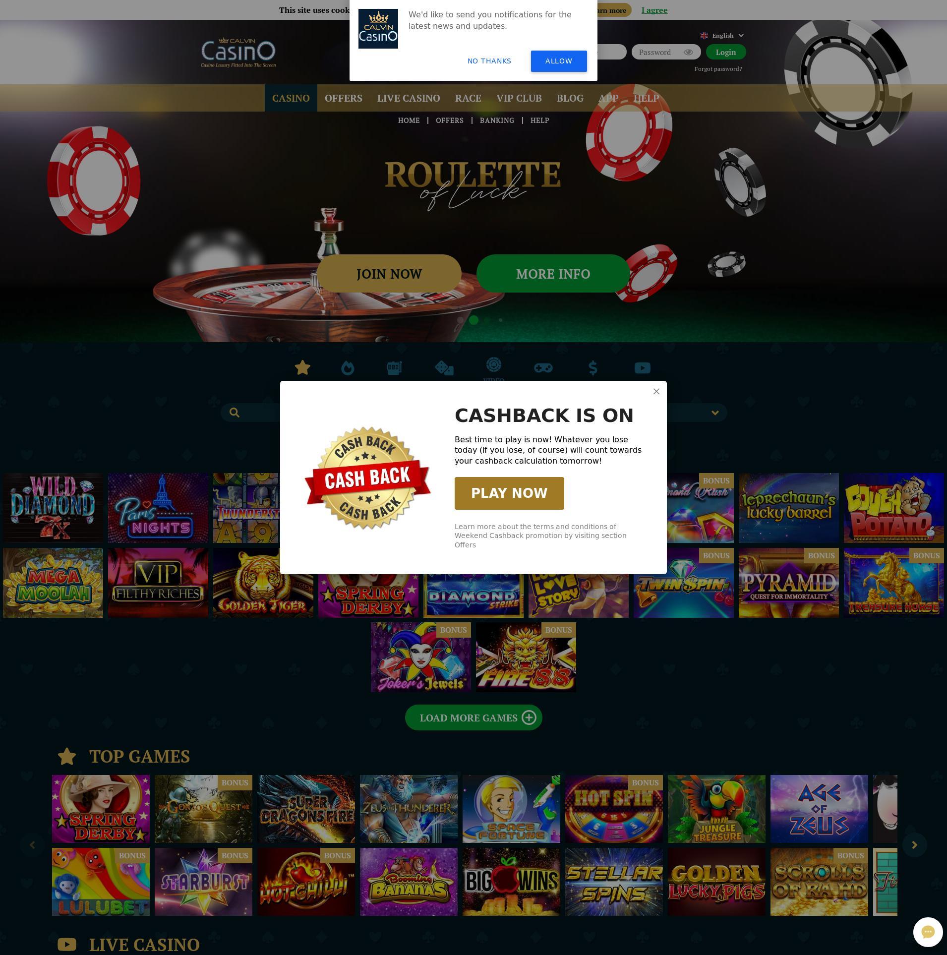Casino skjerm Lobby 2019-11-10 til Tyskland