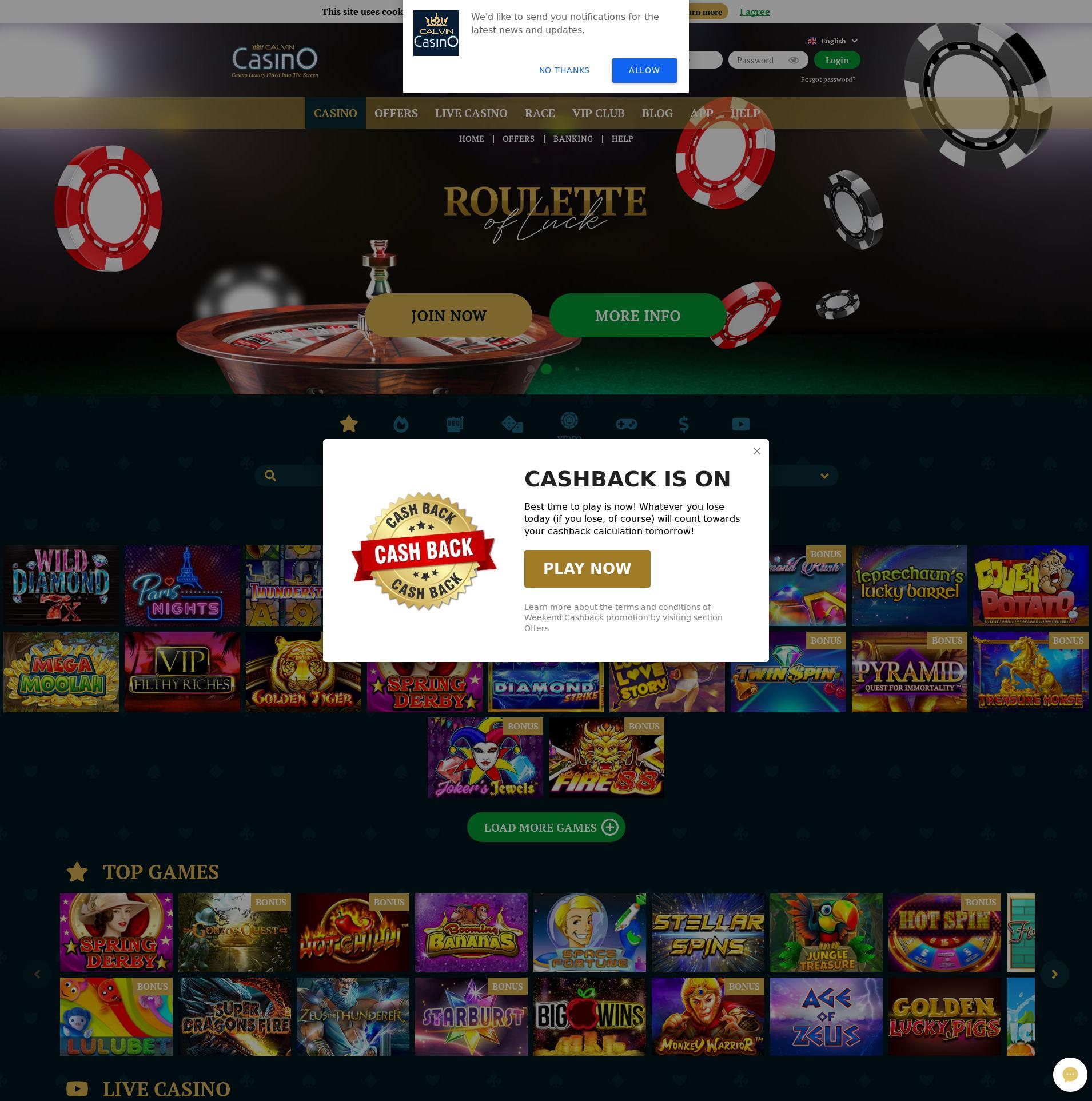 Casino skjerm Lobby 2019-11-10 til Finland