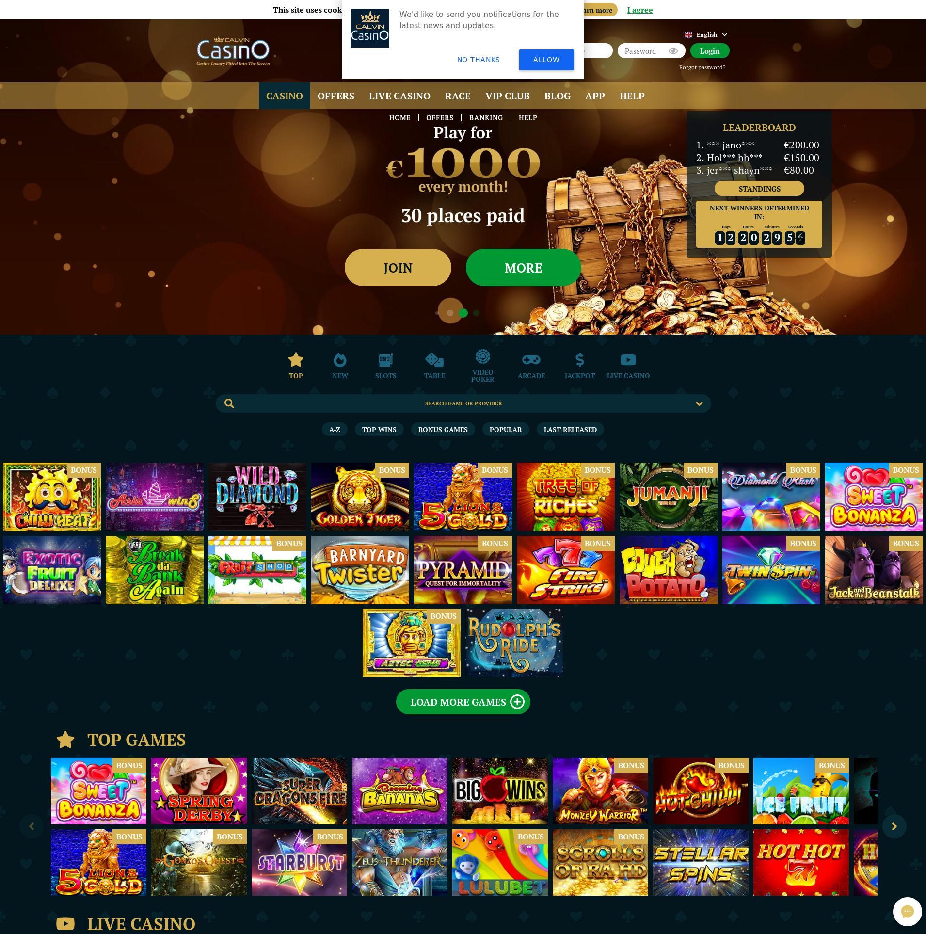 Casino-näyttö Lobby 2019-11-18 varten Suomi