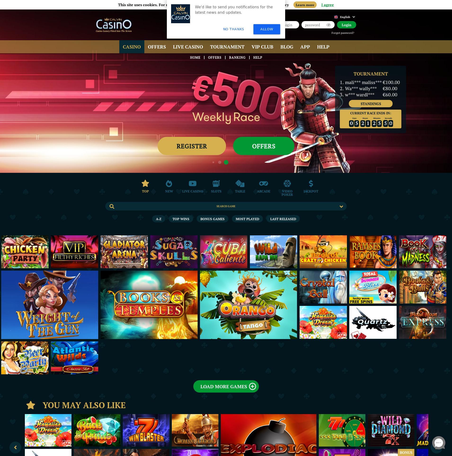 Màn hình Casino Lobby 2020-03-27 cho nước Đức