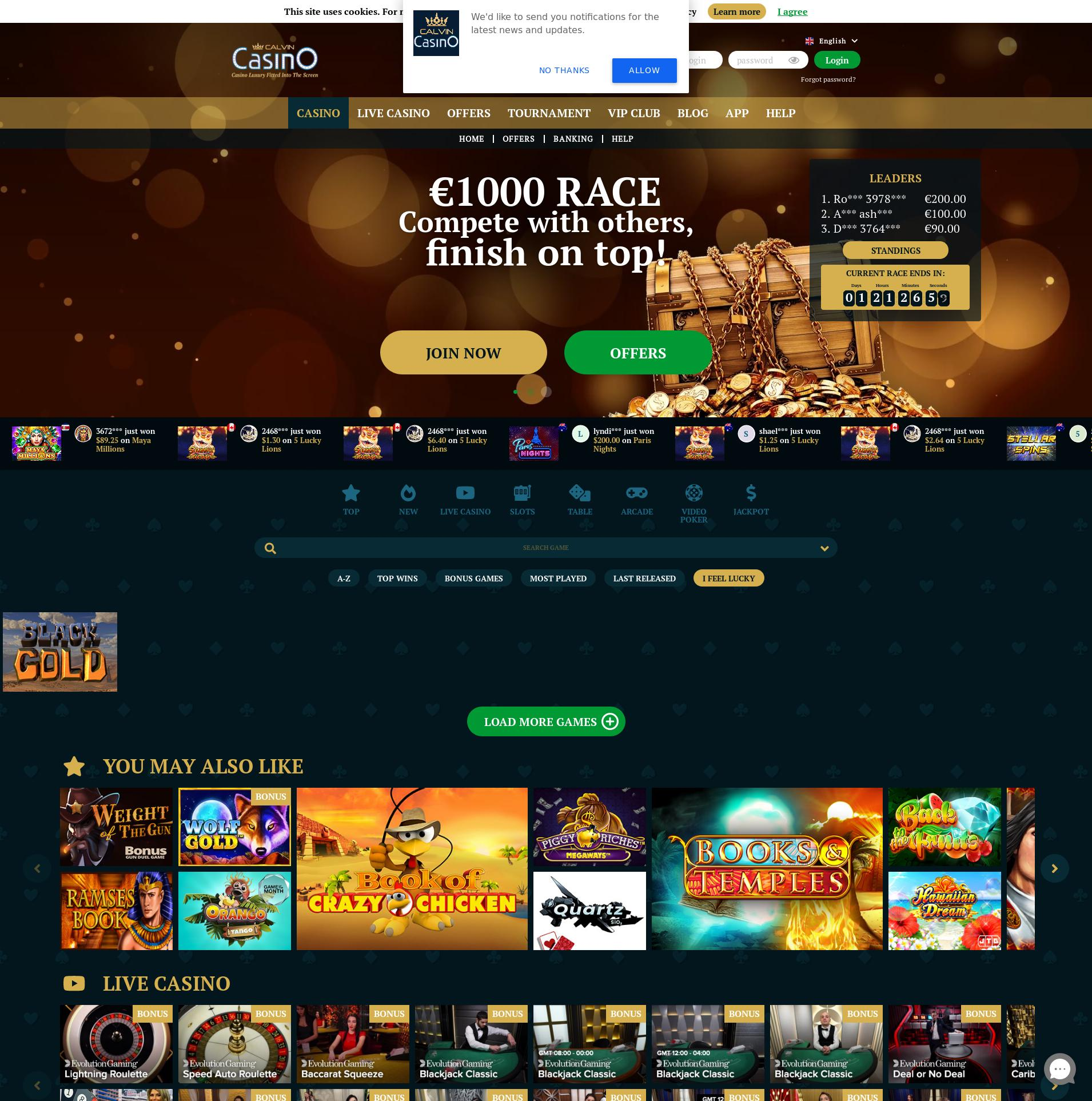 Casino skjerm Lobby 2020-06-02 til Finland