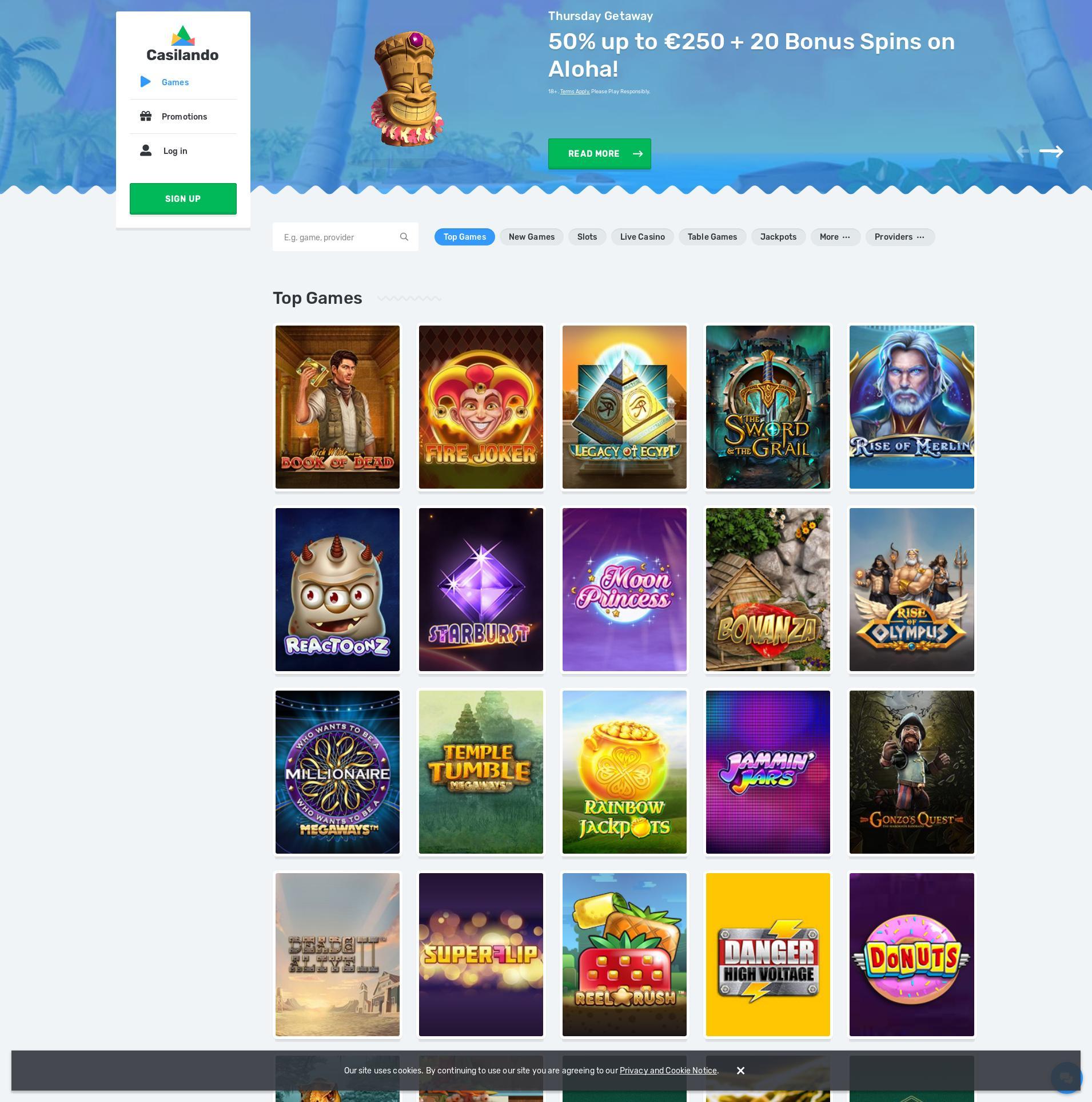 Casino Bildschirm Lobby 2020-01-25 zum Deutschland