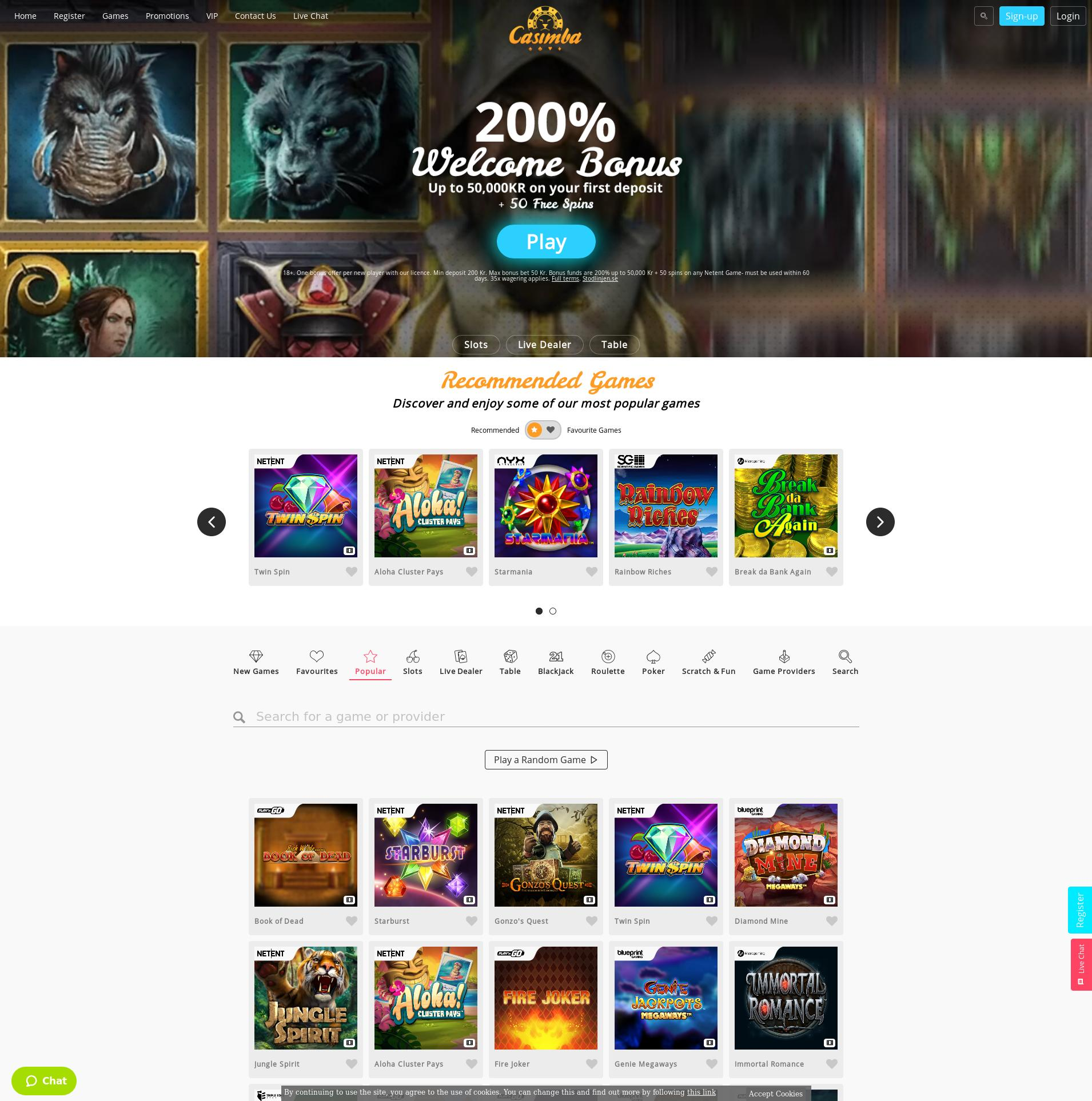 Casino skærm Lobby 2020-02-23 til Sverige