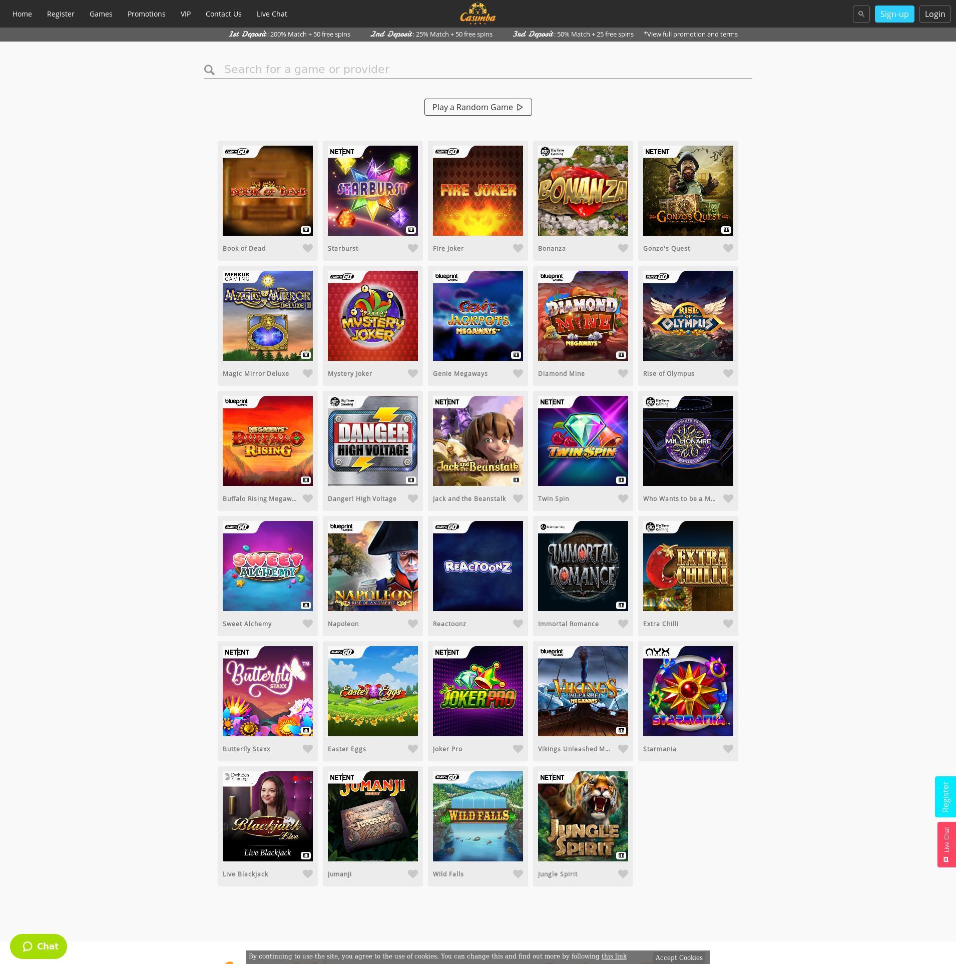 Casino skjerm Lobby 2020-02-27 til Norge