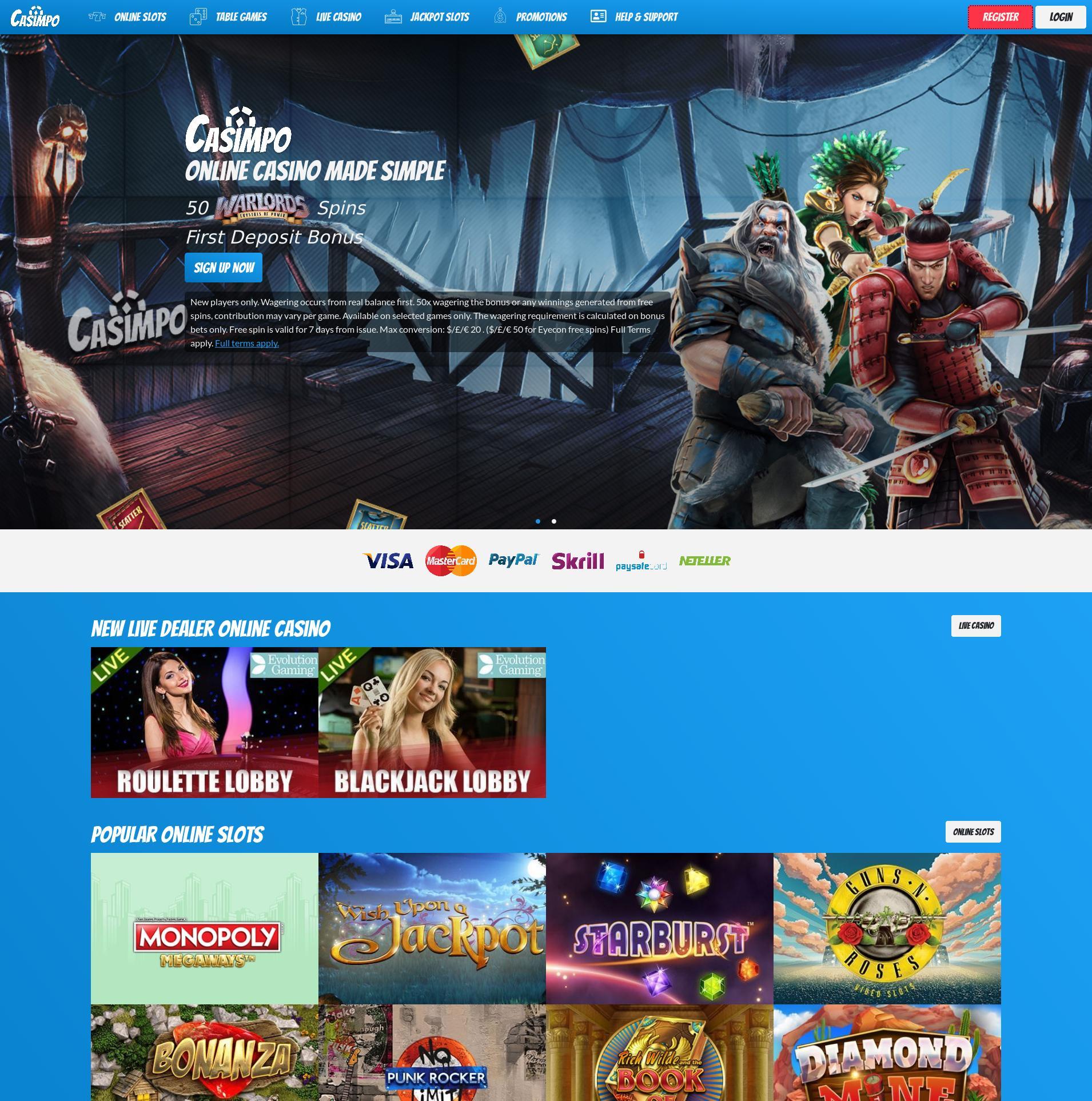 Casino screen Lobby 2020-06-01 for United Kingdom