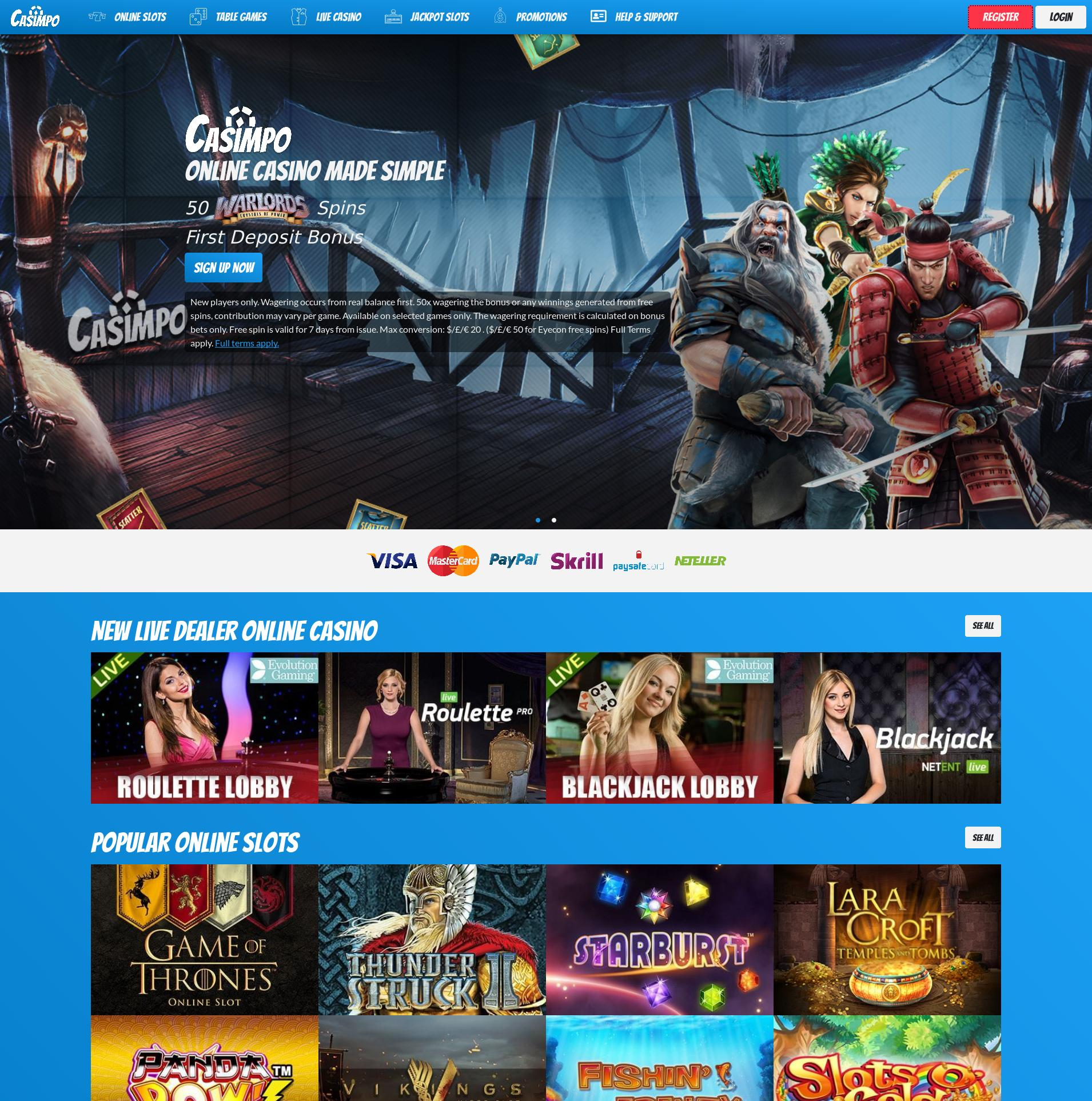 Casino screen Lobby 2019-06-19 for United Kingdom