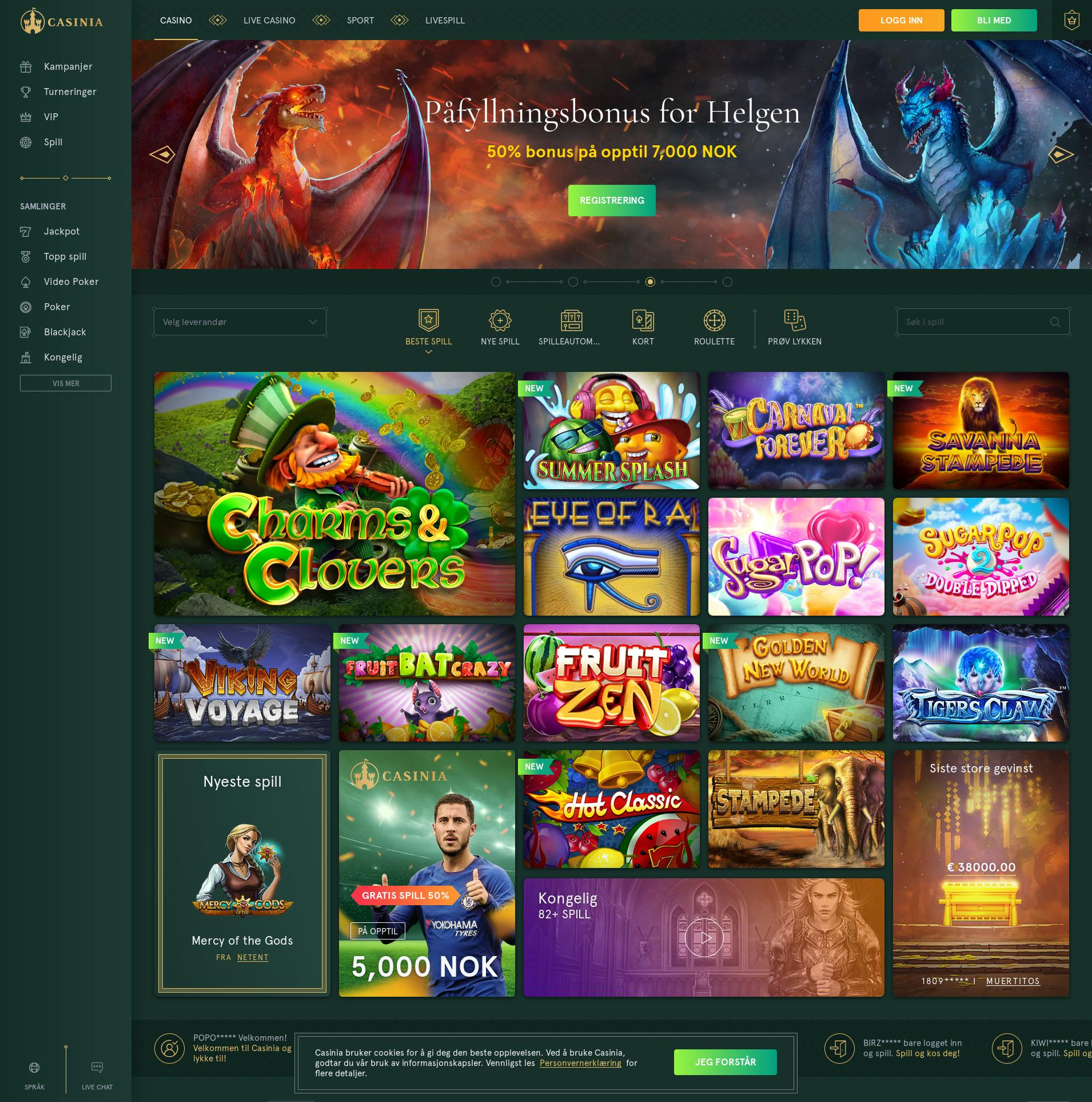 Casino screen Lobby 2019-07-22 for Russian Federation