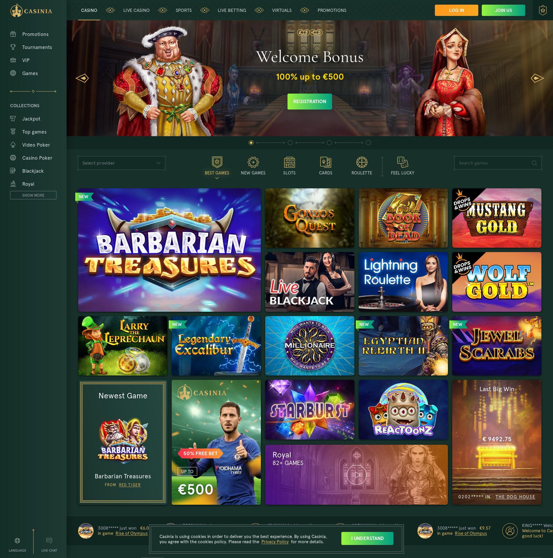 赌场的屏幕 Lobby 2020-01-23 对于 中国