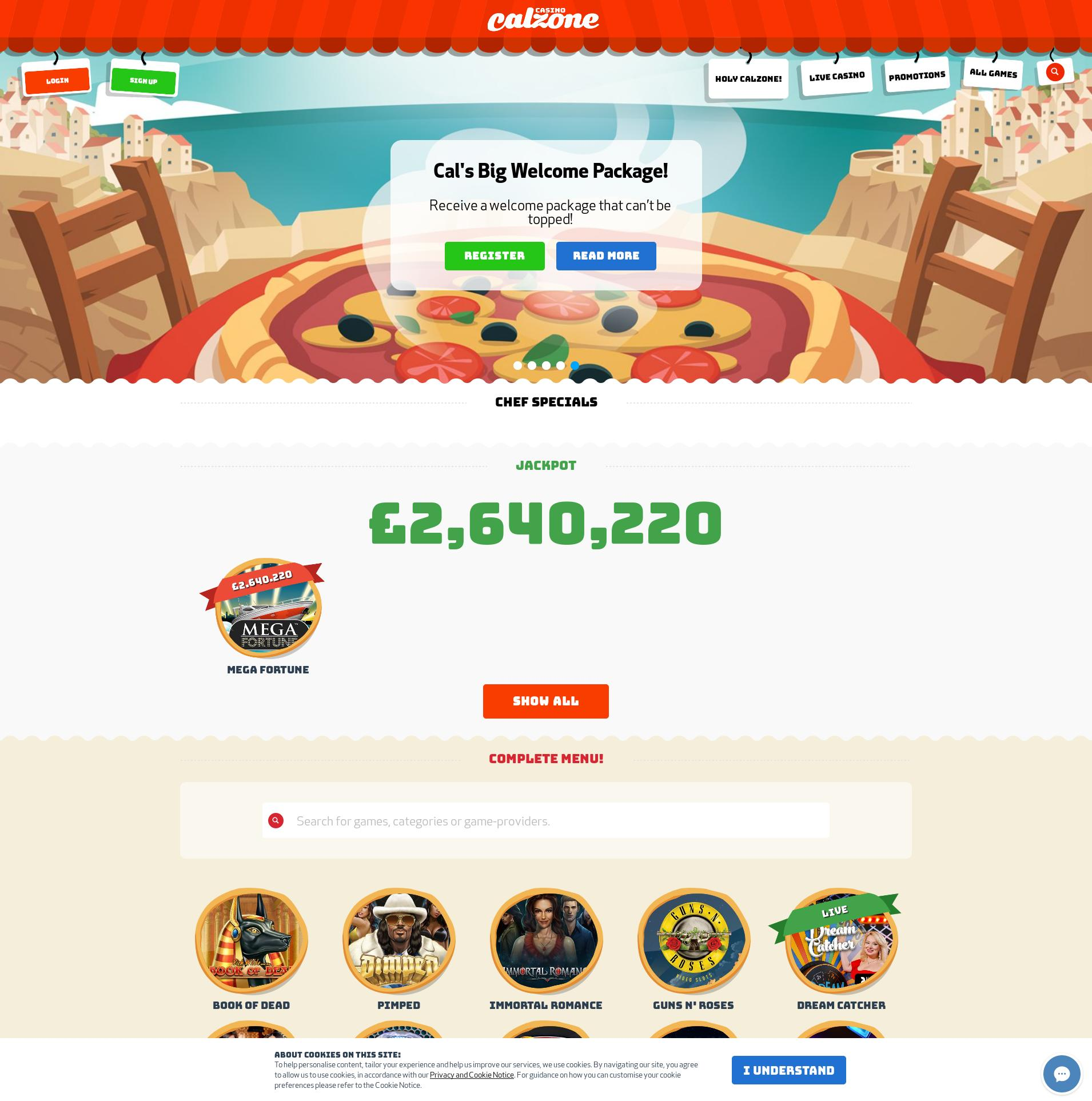Casino screen Lobby 2019-07-19 for United Kingdom