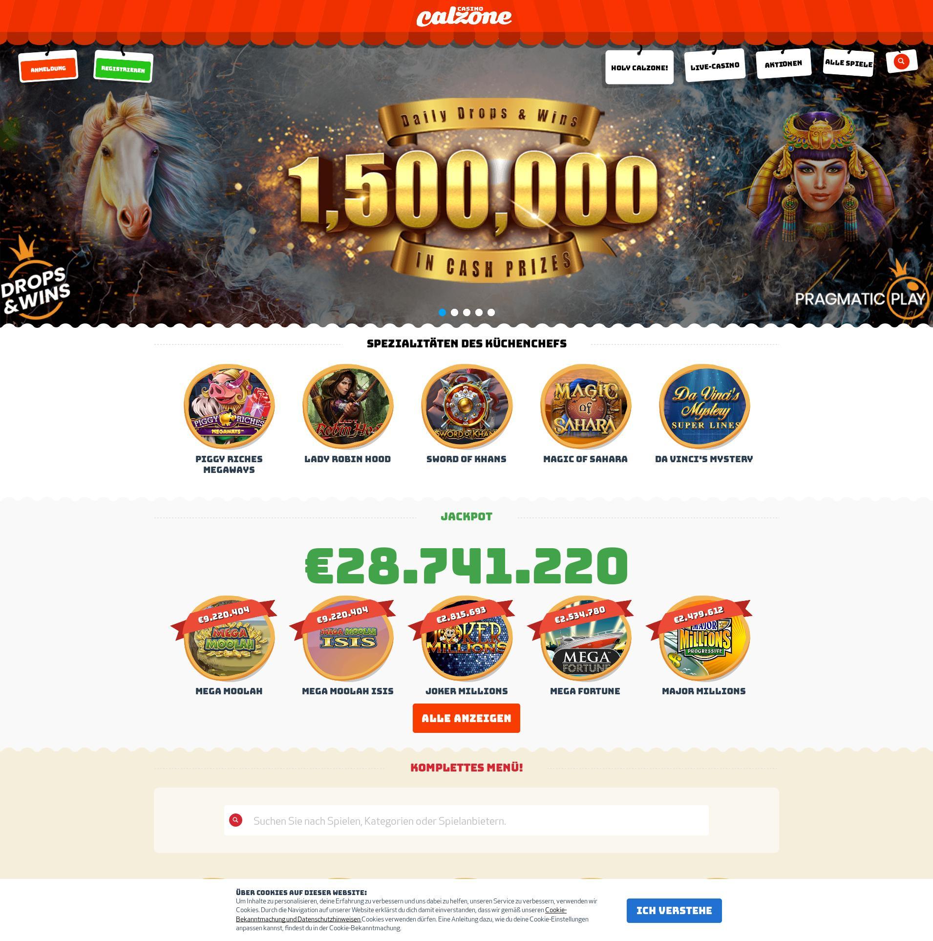 Obrazovka kasina Lobby 2020-02-25 pro Německo