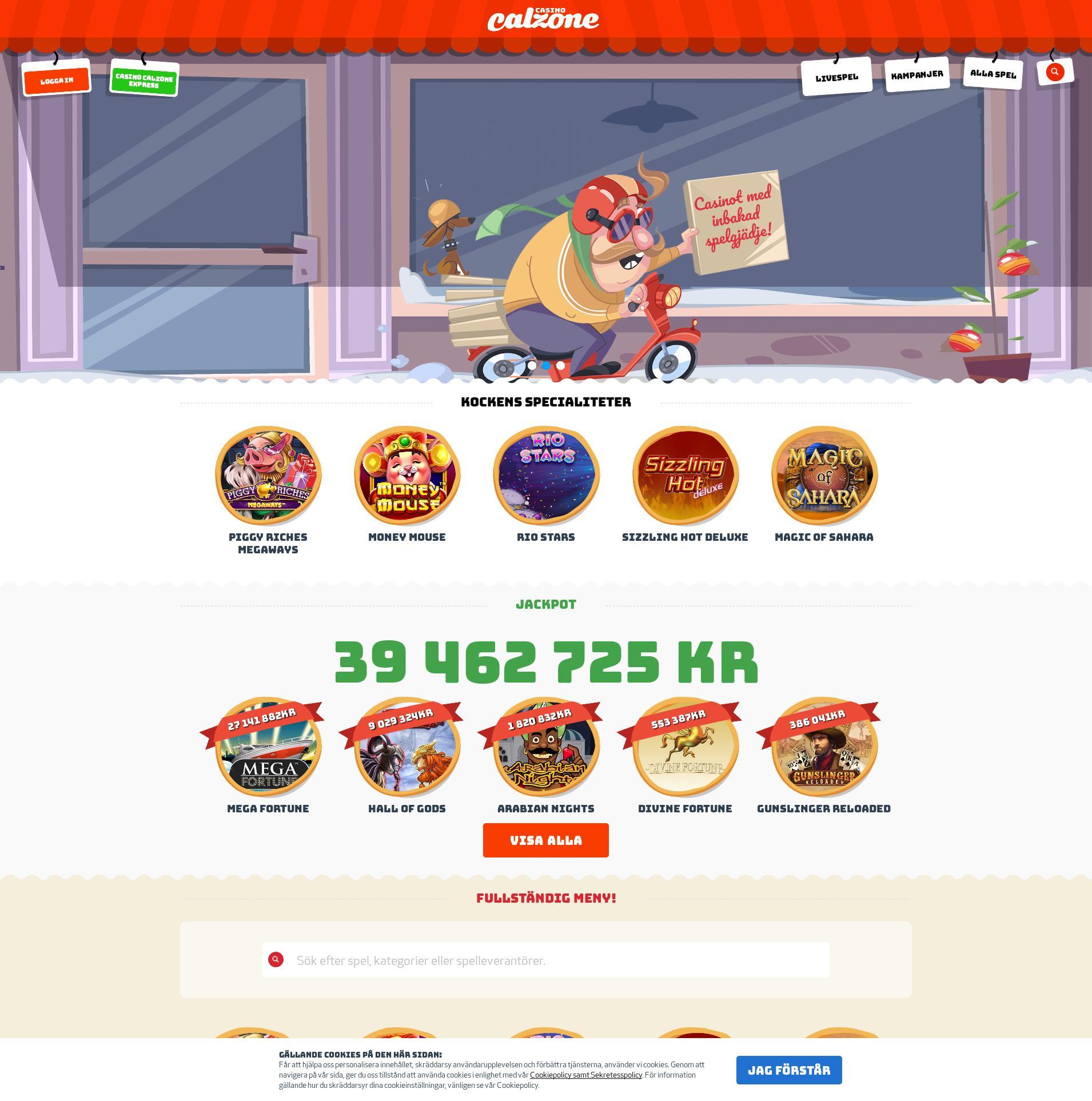 Casino skärm Lobby 2020-02-26 för Sverige