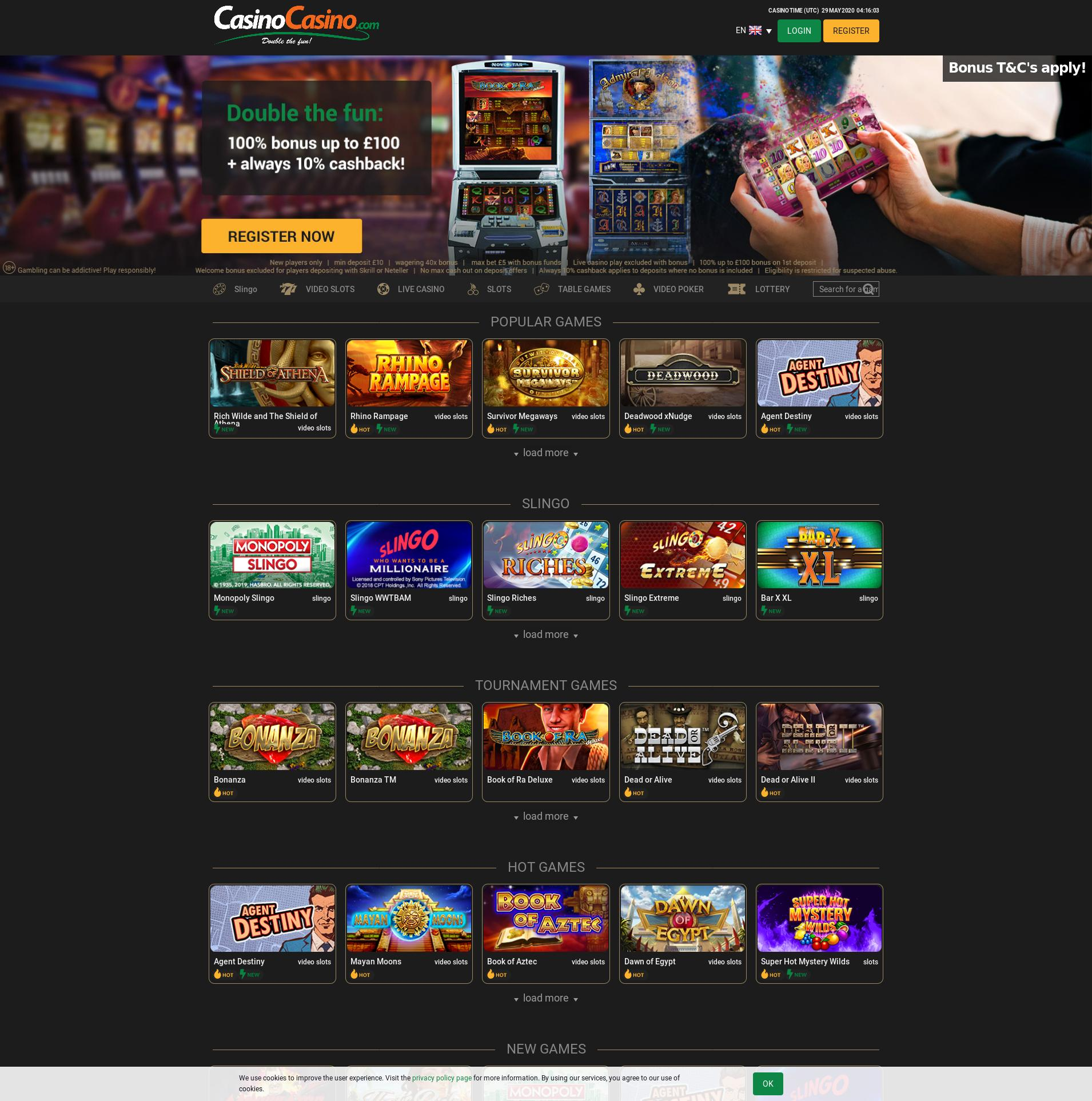 Casino screen Lobby 2020-05-29 for United Kingdom