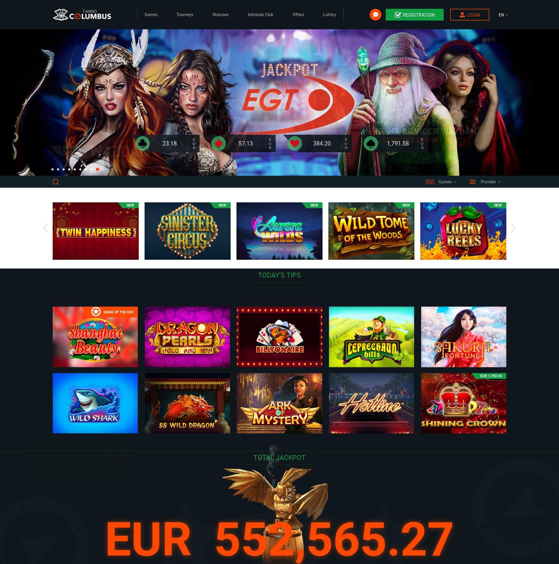 Casino screen Lobby 2019-09-18 for Czech Republic