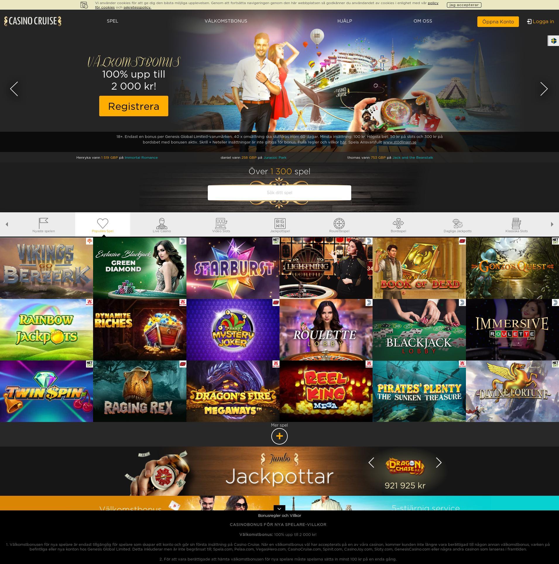 Casino screen Lobby 2020-06-04 for Sweden
