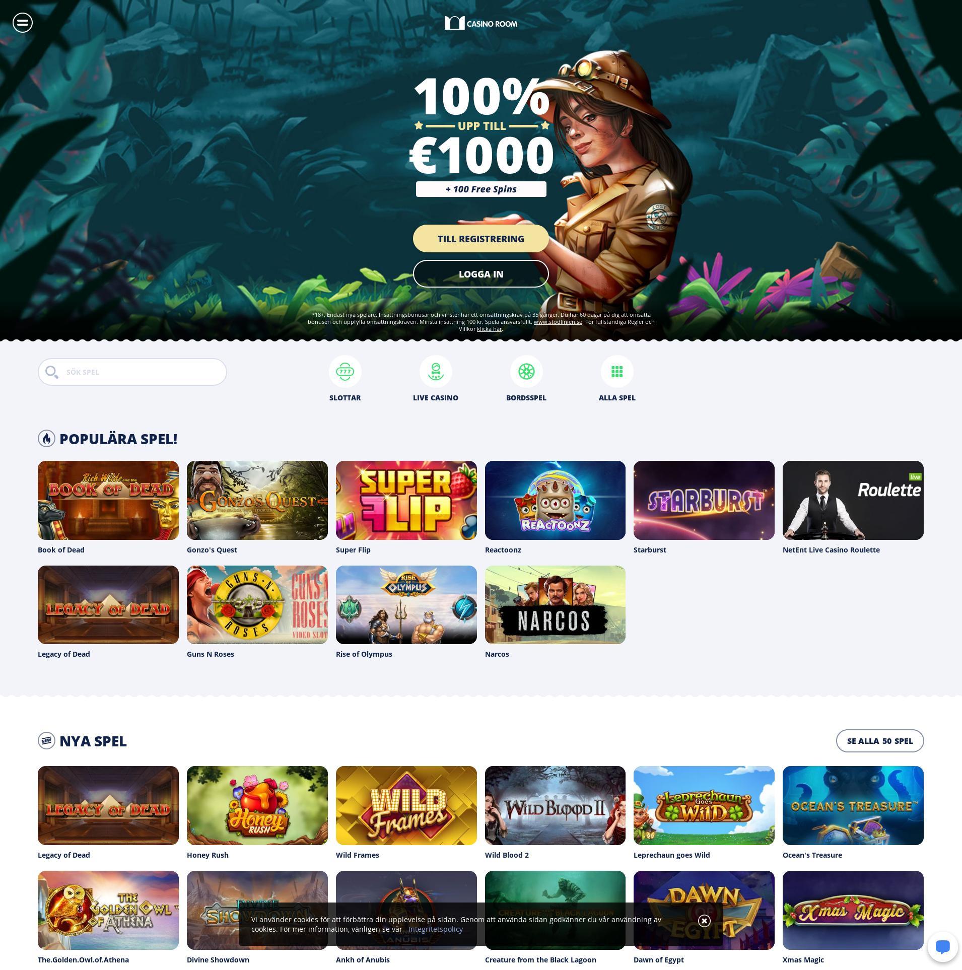 Casino skärm Lobby 2020-02-28 för Sverige