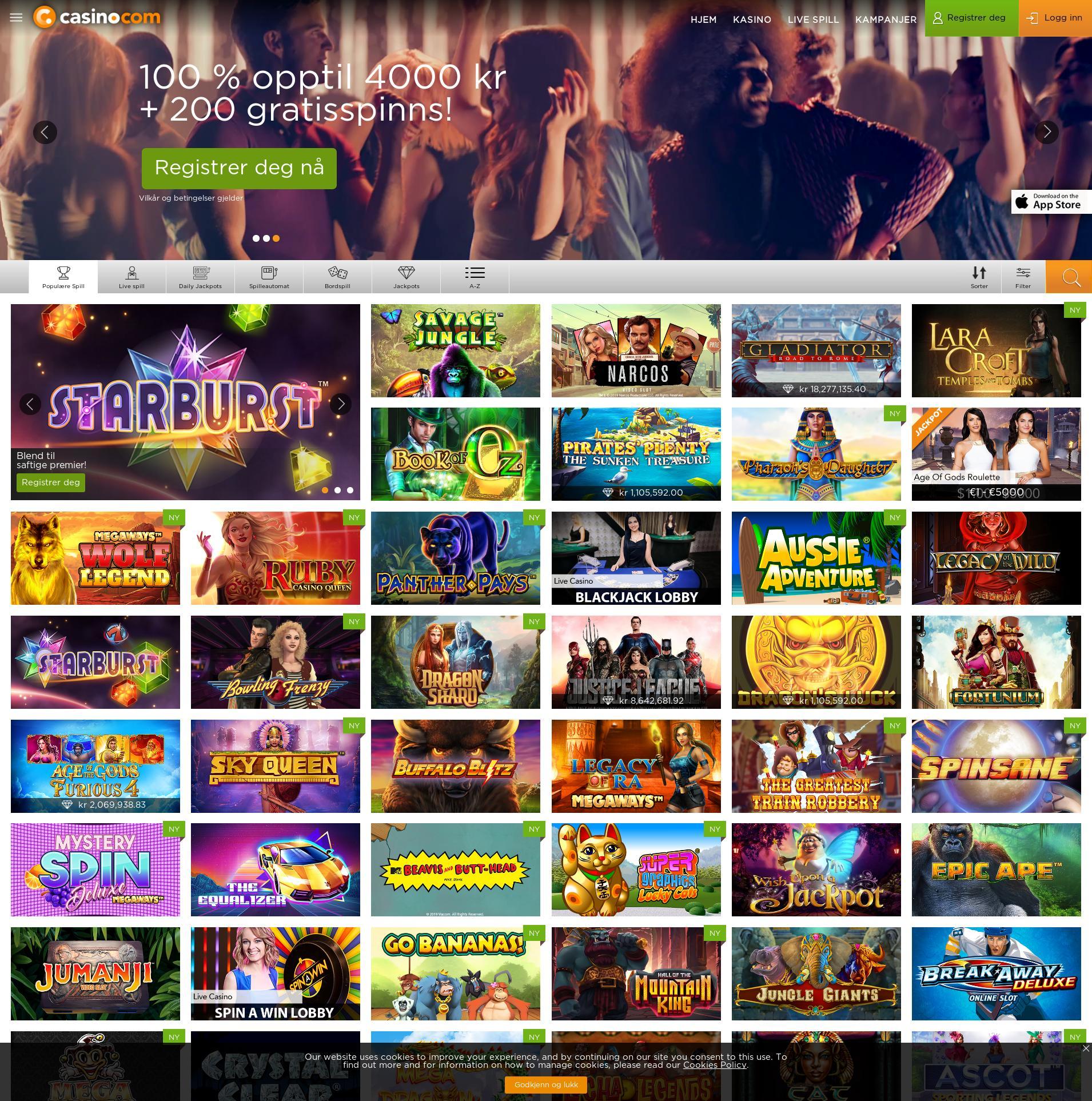 Casino skærm Lobby 2019-06-19 til Danmark