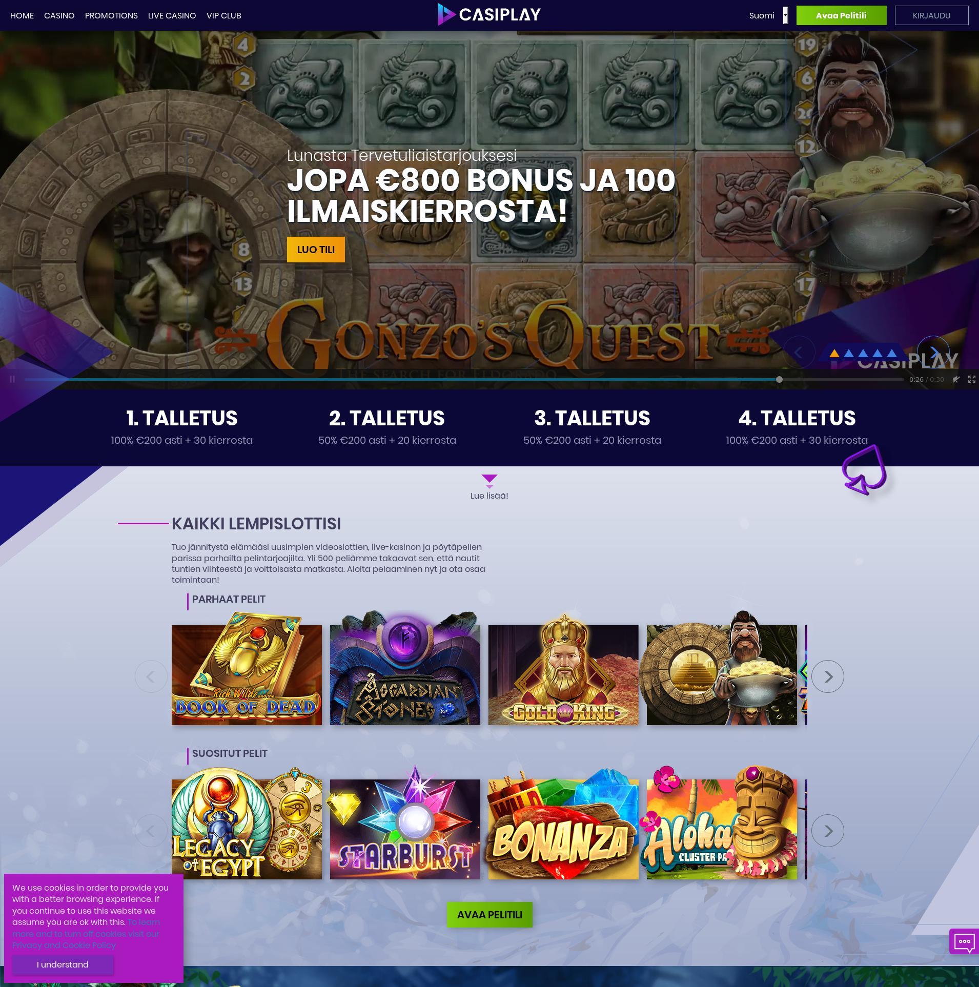 Casino-näyttö Lobby 2019-07-17 varten Suomi