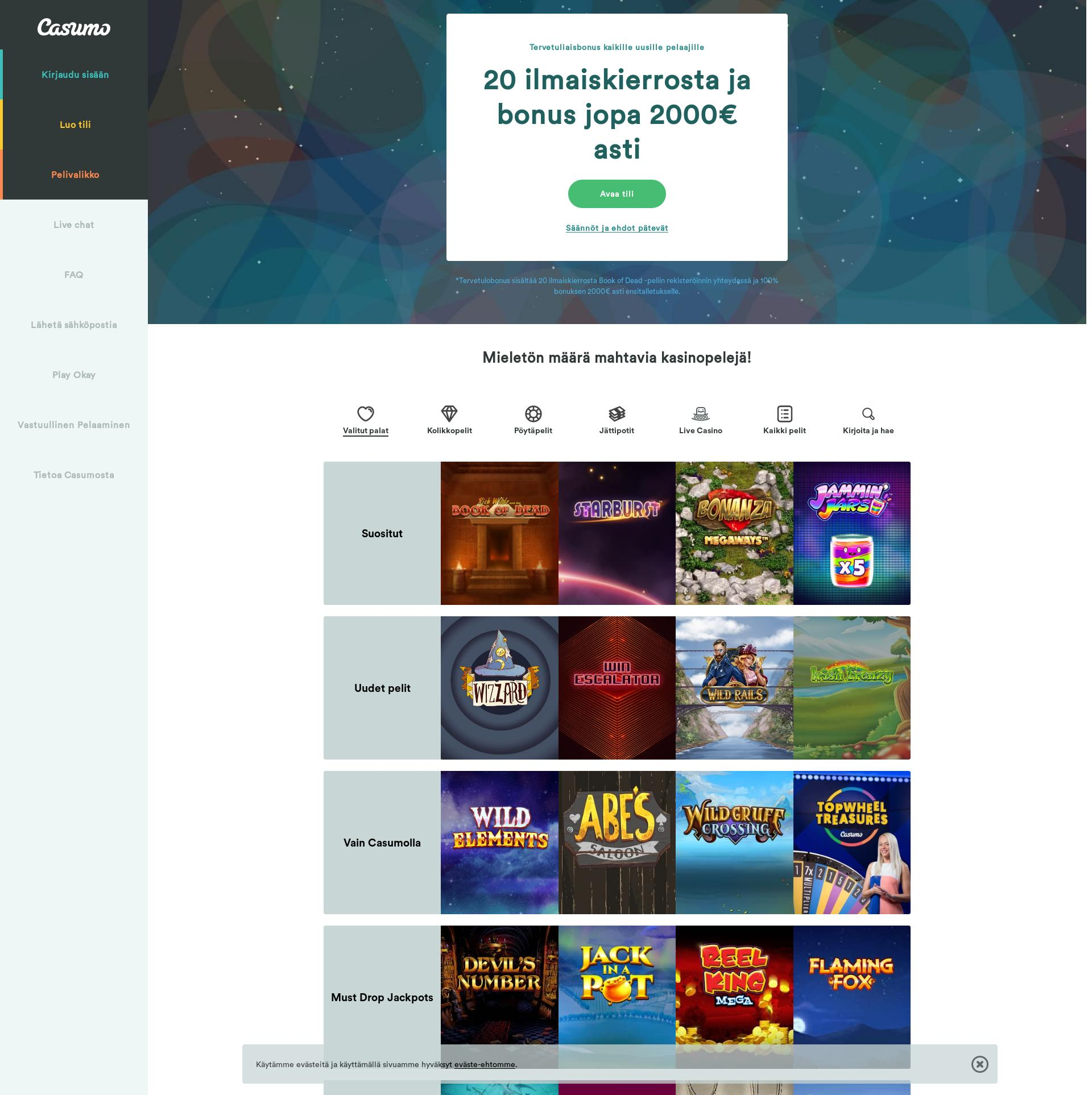 Casino skärm Lobby 2019-07-15 för Sverige