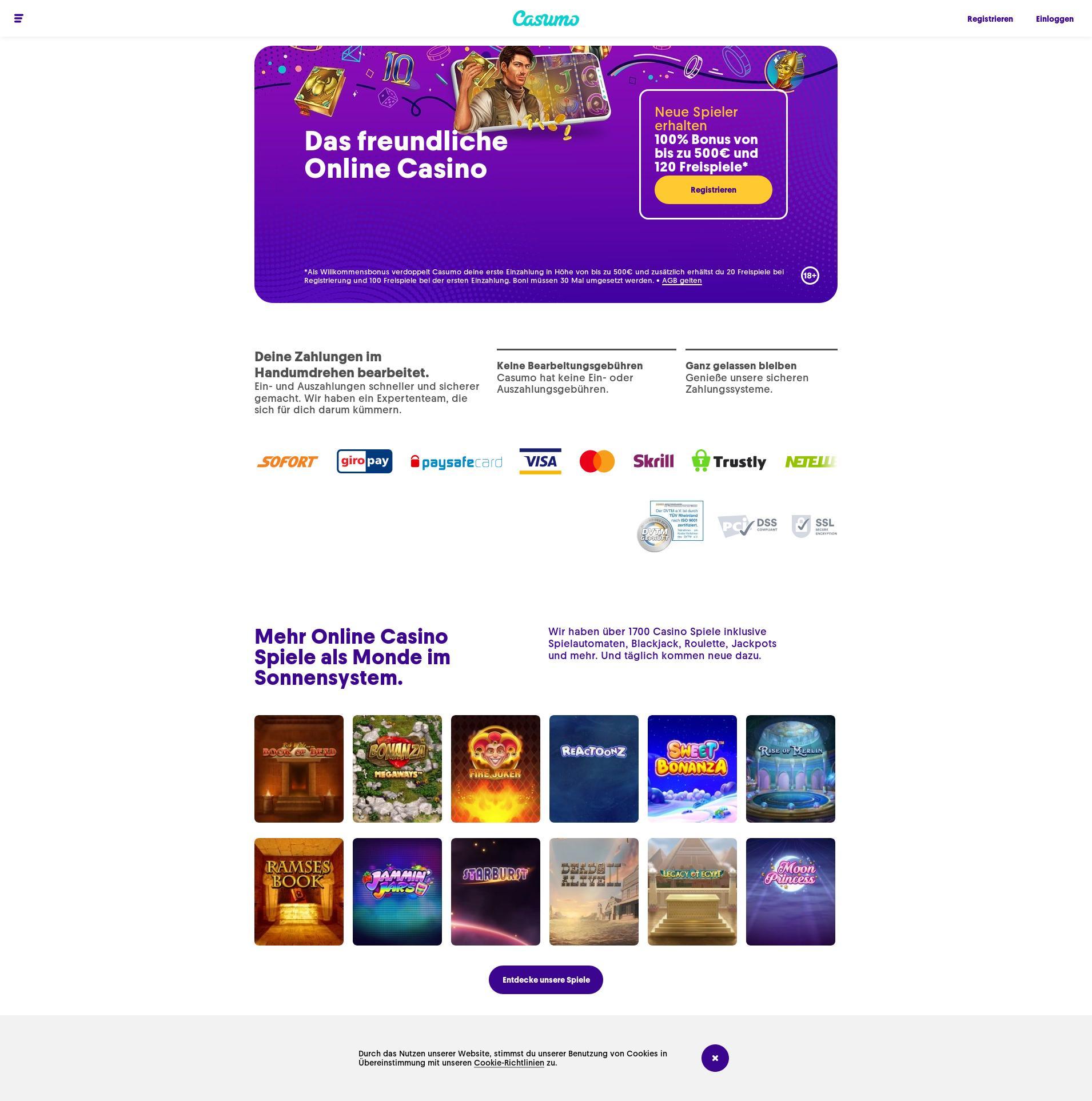 Casino Bildschirm Lobby 2020-02-27 zum Deutschland
